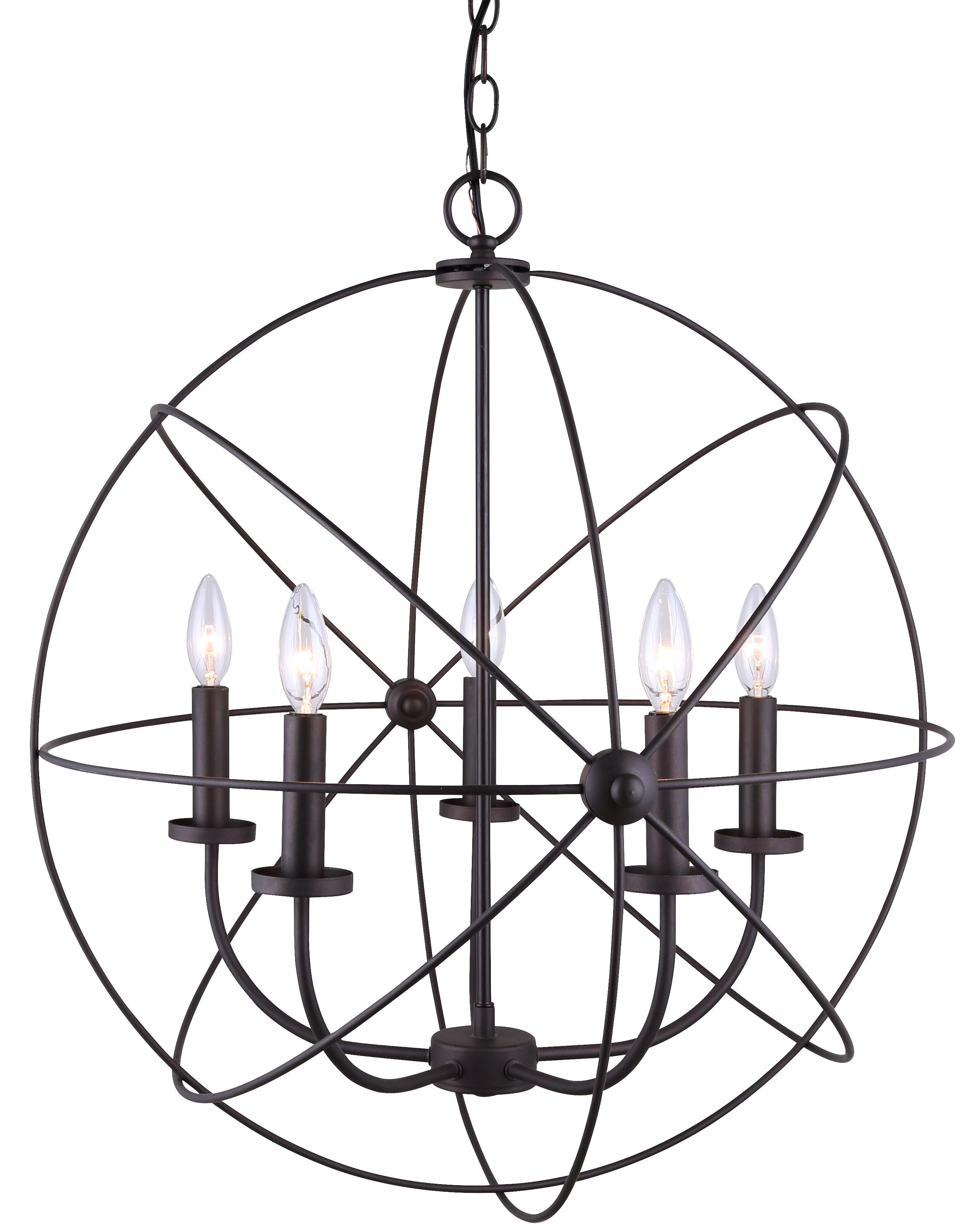 2020 Waldron 5-Light Globe Chandelier in Waldron 5-Light Globe Chandeliers