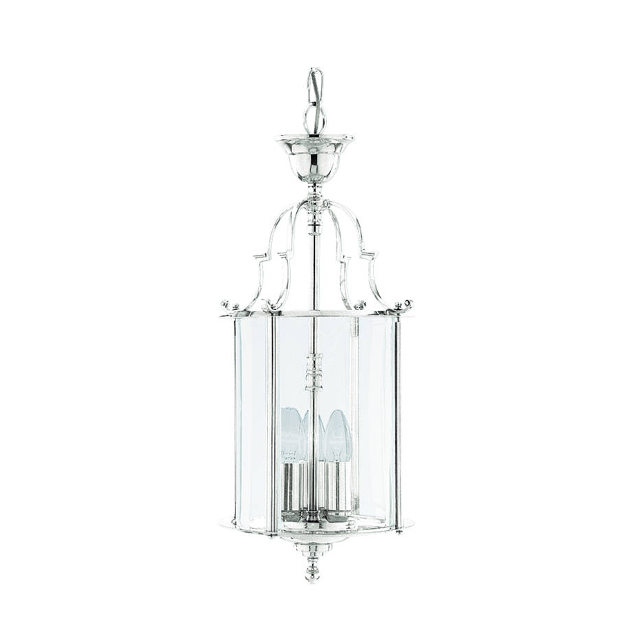 3 Light Ceiling Pendant Chrome, Clear Glass for Well-known 3-Light Lantern Cylinder Pendants