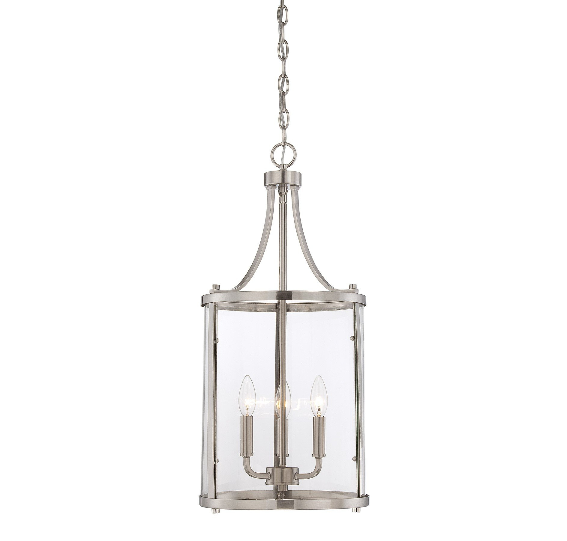3 Light Lantern Cylinder Pendant Throughout Widely Used Gabriella 3 Light Lantern Chandeliers (View 2 of 25)