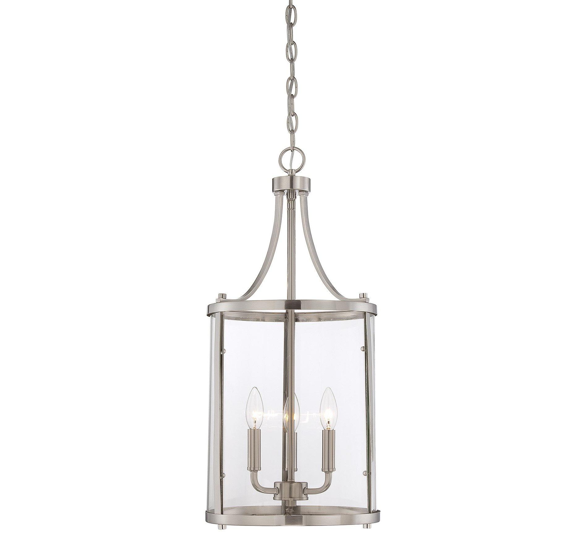 3-Light Lantern Cylinder Pendant throughout Widely used Gabriella 3-Light Lantern Chandeliers