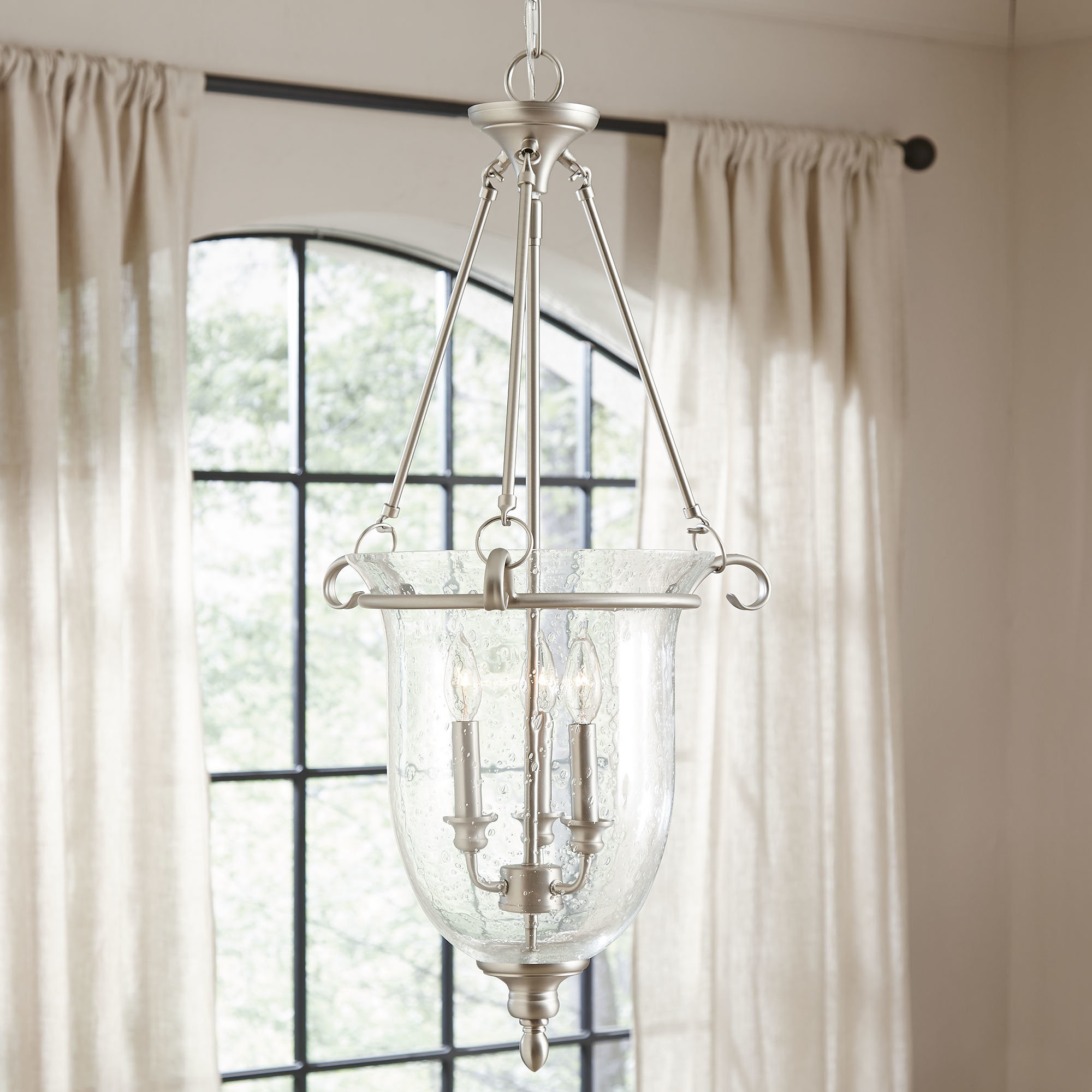 3 Light Single Urn Pendant Intended For Fashionable Rockland 4 Light Geometric Pendants (View 11 of 25)