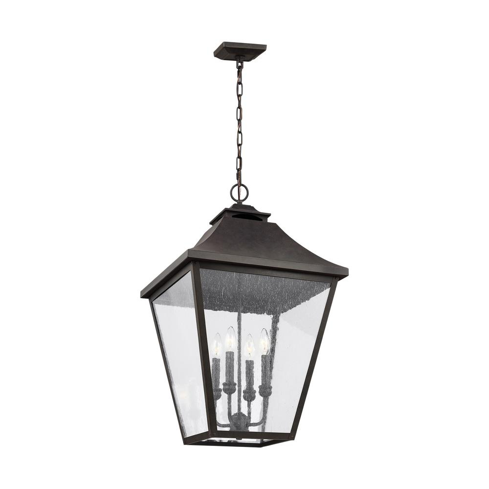4-Light Lantern Square / Rectangle Pendants with Best and Newest Feiss Galena Sable 4-Light Outdoor Hanging Lantern