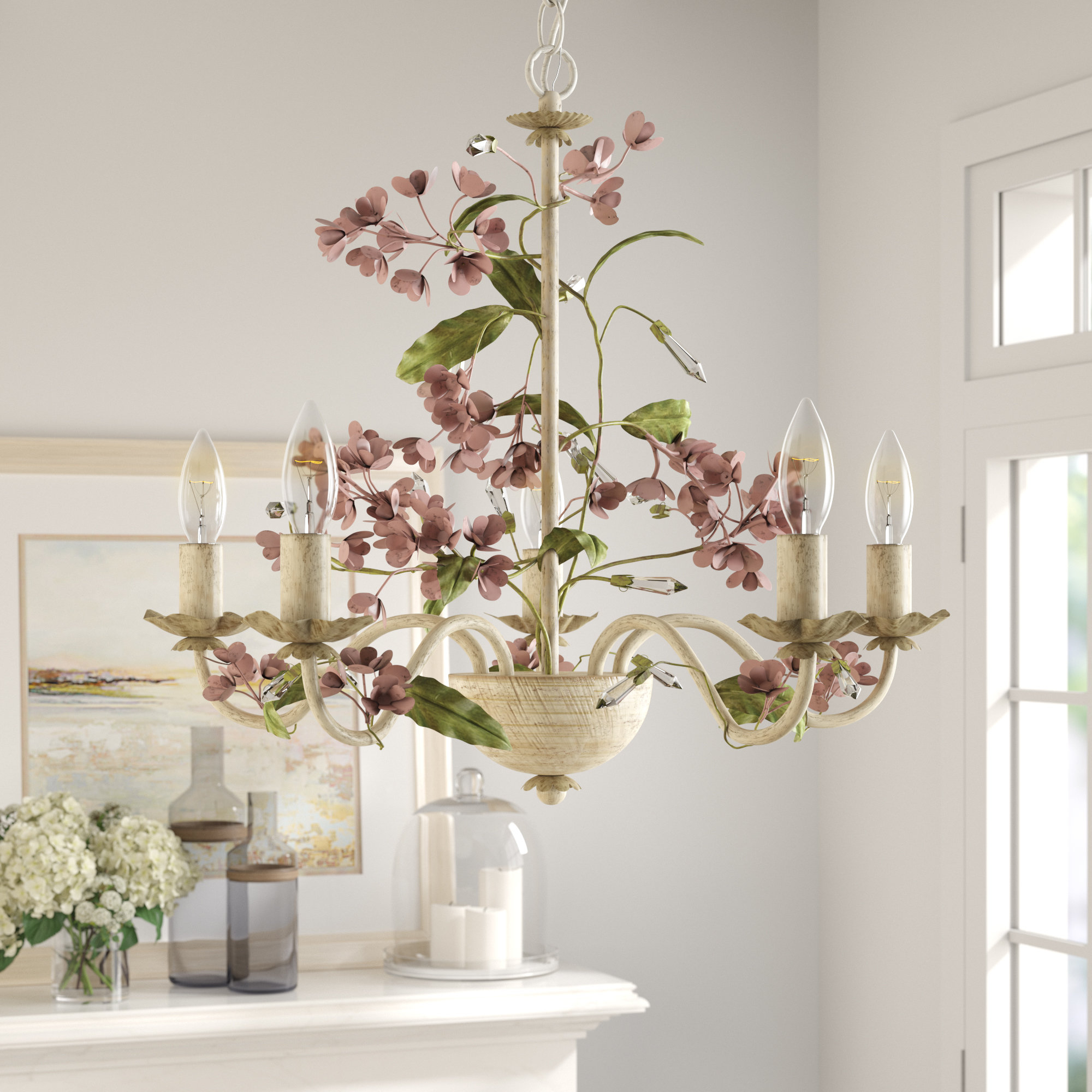 5-Light Candle Style Chandelier throughout Trendy Hesse 5 Light Candle-Style Chandeliers
