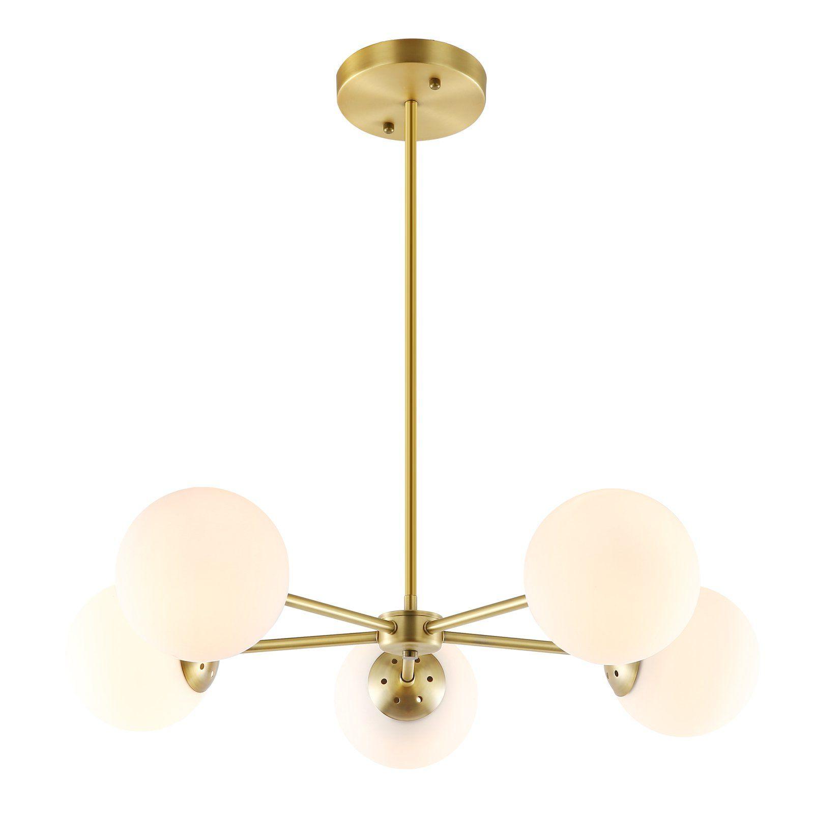5 Light inside Well known Bautista 5-Light Sputnik Chandeliers