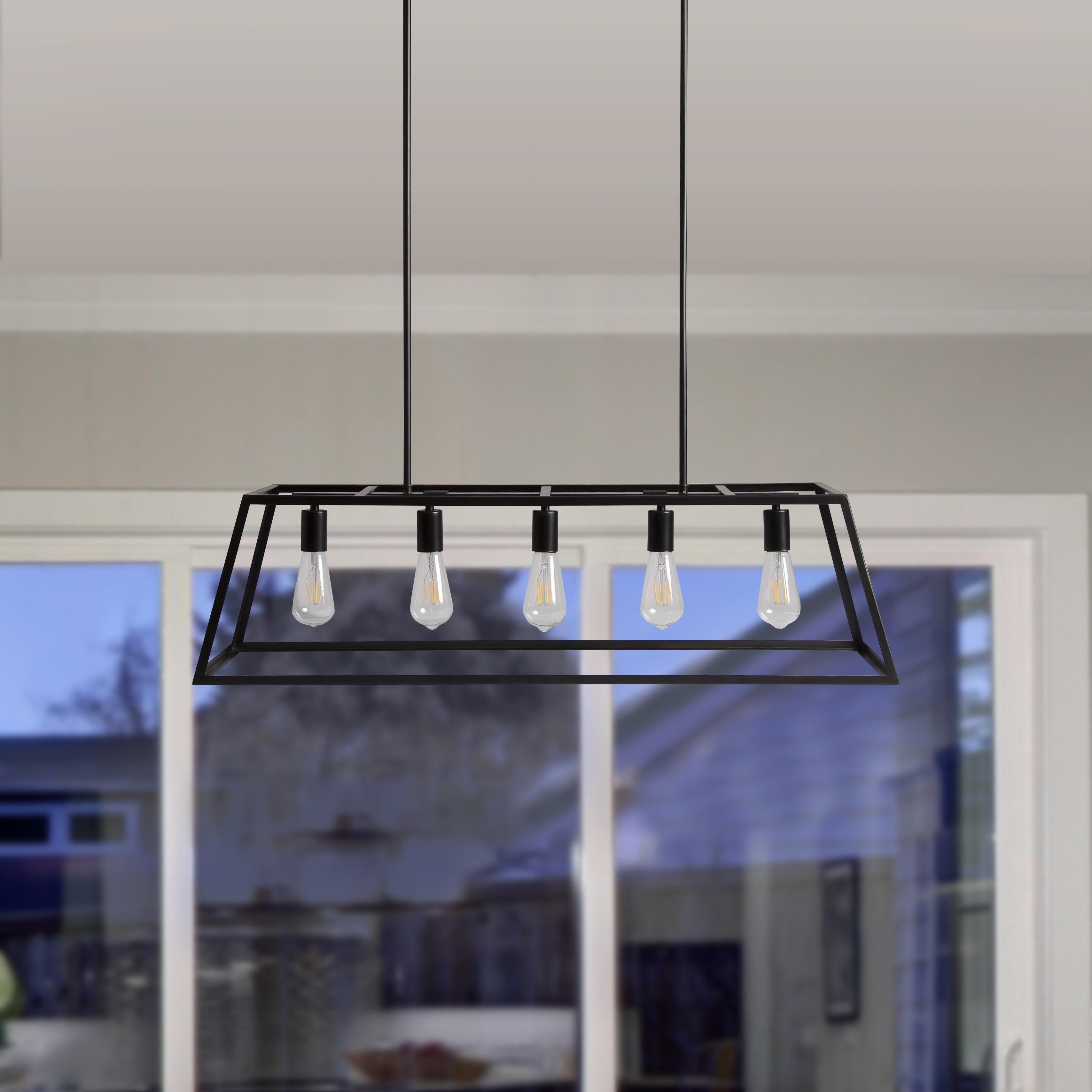 5-Light Kitchen Island Pendant for Trendy Bouvet 5-Light Kitchen Island Linear Pendants