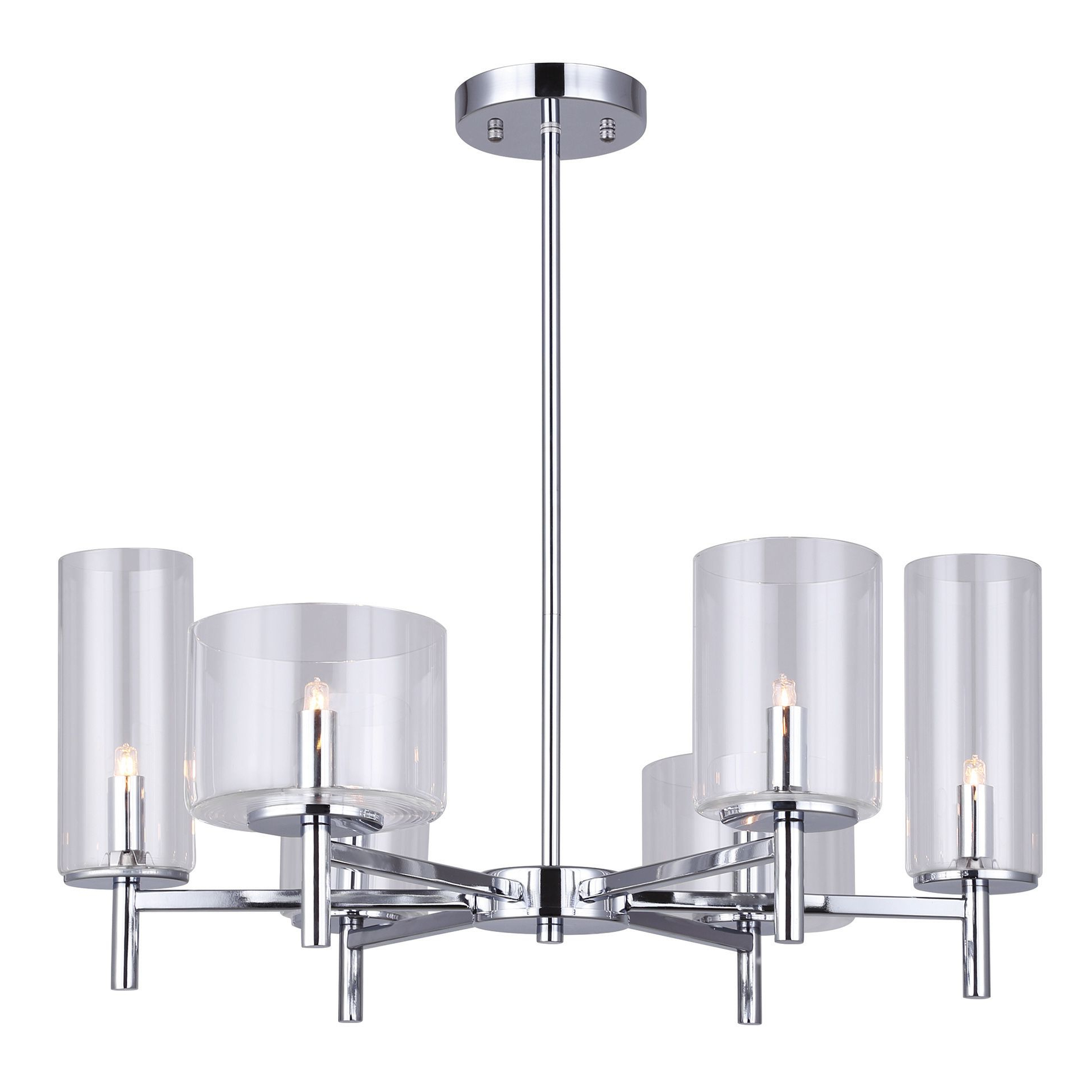 6-Light Malik Chandelier with regard to 2020 La Sarre 3-Light Globe Chandeliers