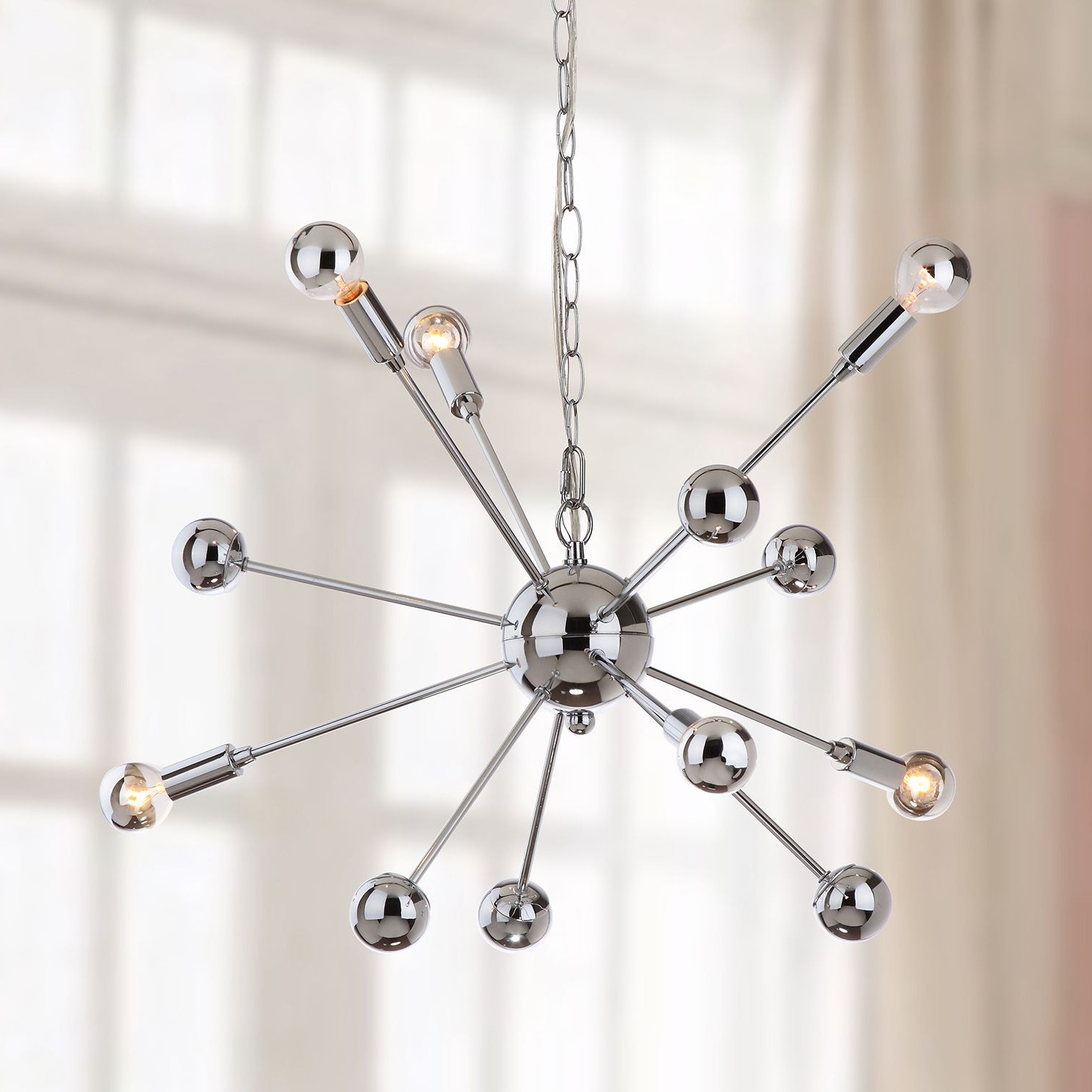 6 Light Starburst Sputnik Pendant Light (View 3 of 25)