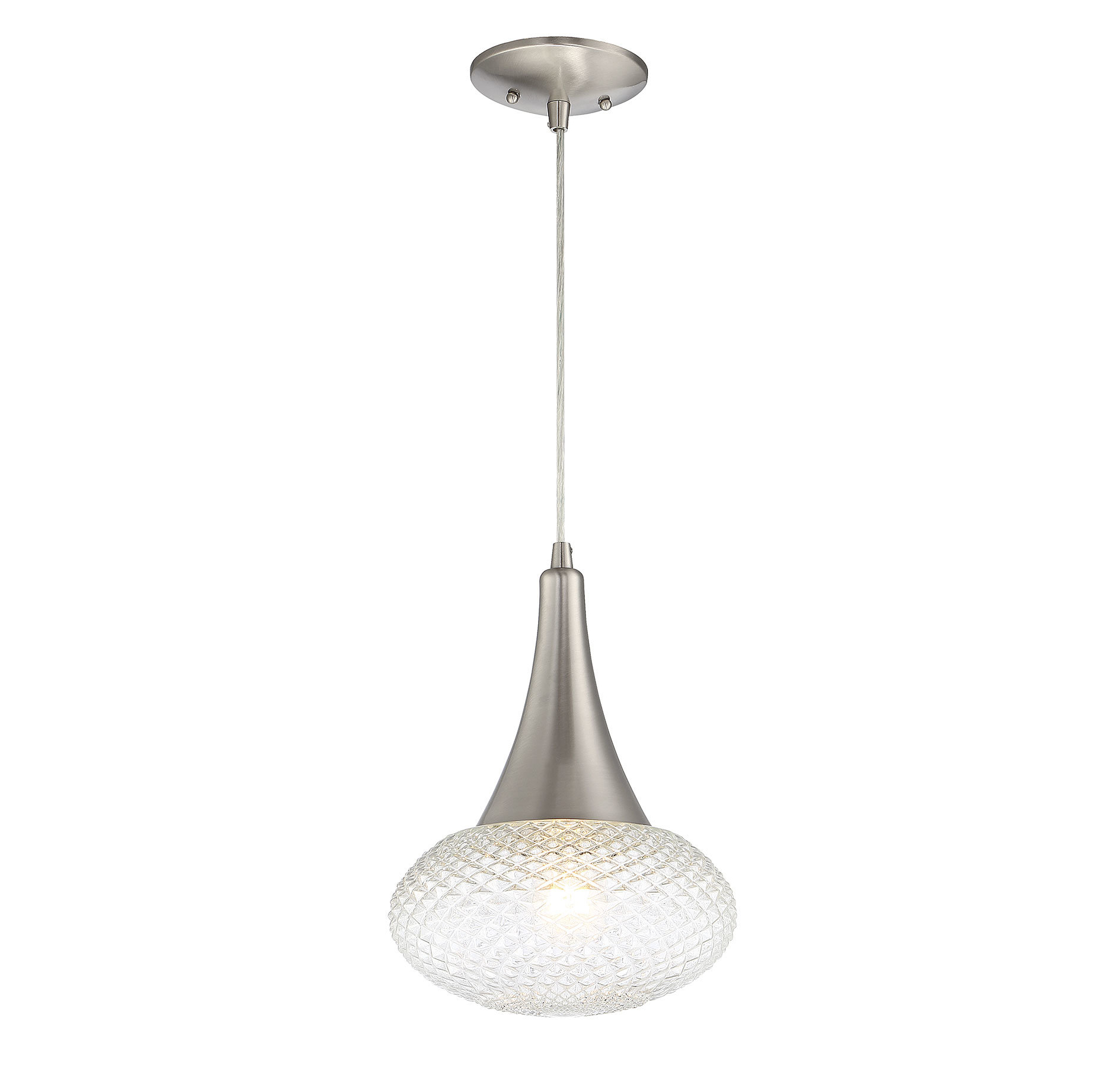 Abordale 1 Light Single Dome Pendants Pertaining To Fashionable Carly 1 Light Single Teardrop Pendant (View 5 of 25)
