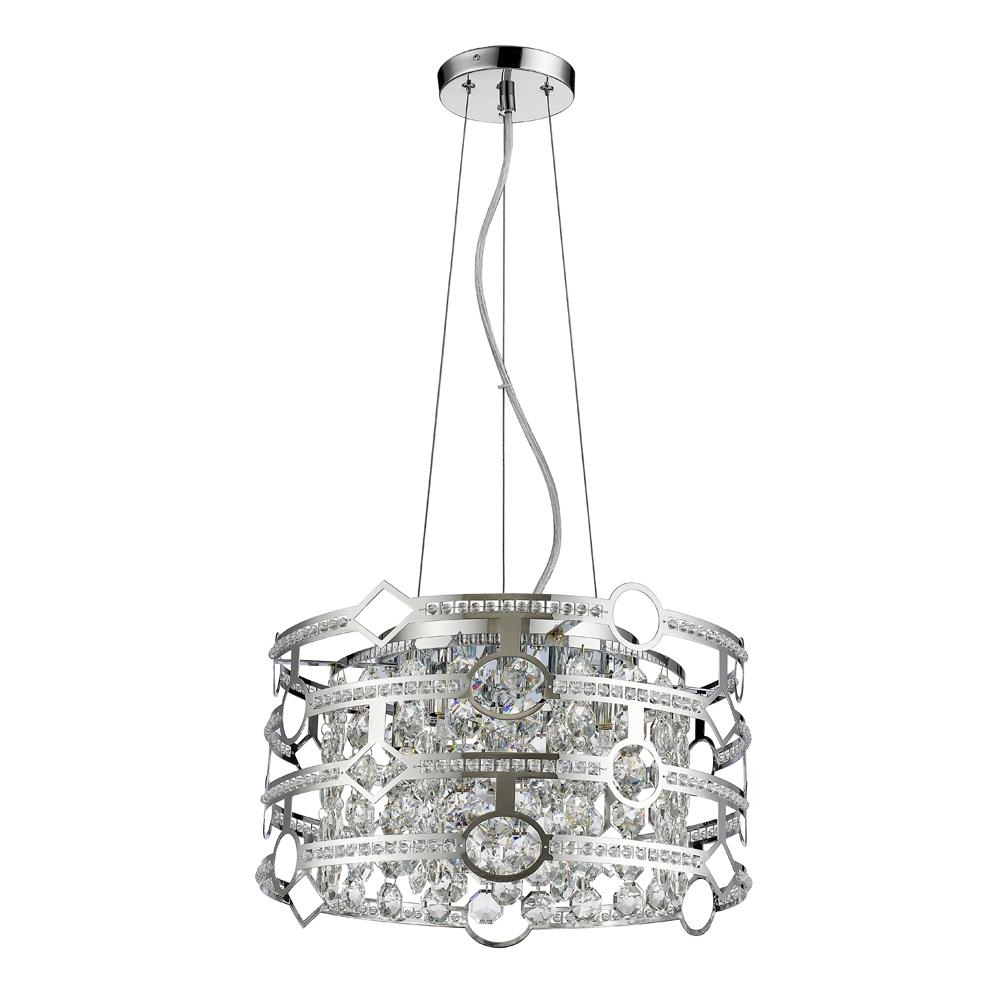 Acclaim Lighting Meghan Indoor 5 Light Chandelier With Crystal In Polished  Nickel For Well Liked Gaines 5 Light Shaded Chandeliers (View 1 of 25)