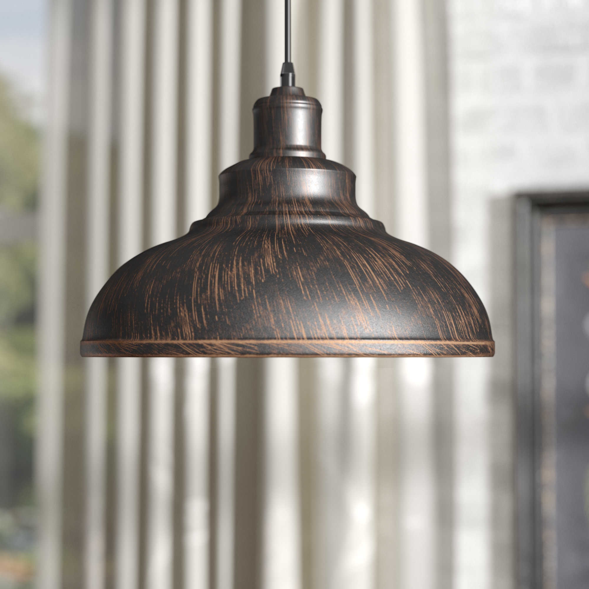 Adriana Black 1 Light Single Dome Pendants Within Most Recently Released Laurel Foundry Modern Farmhouse Estella 1 Light Dome Pendant (View 8 of 25)