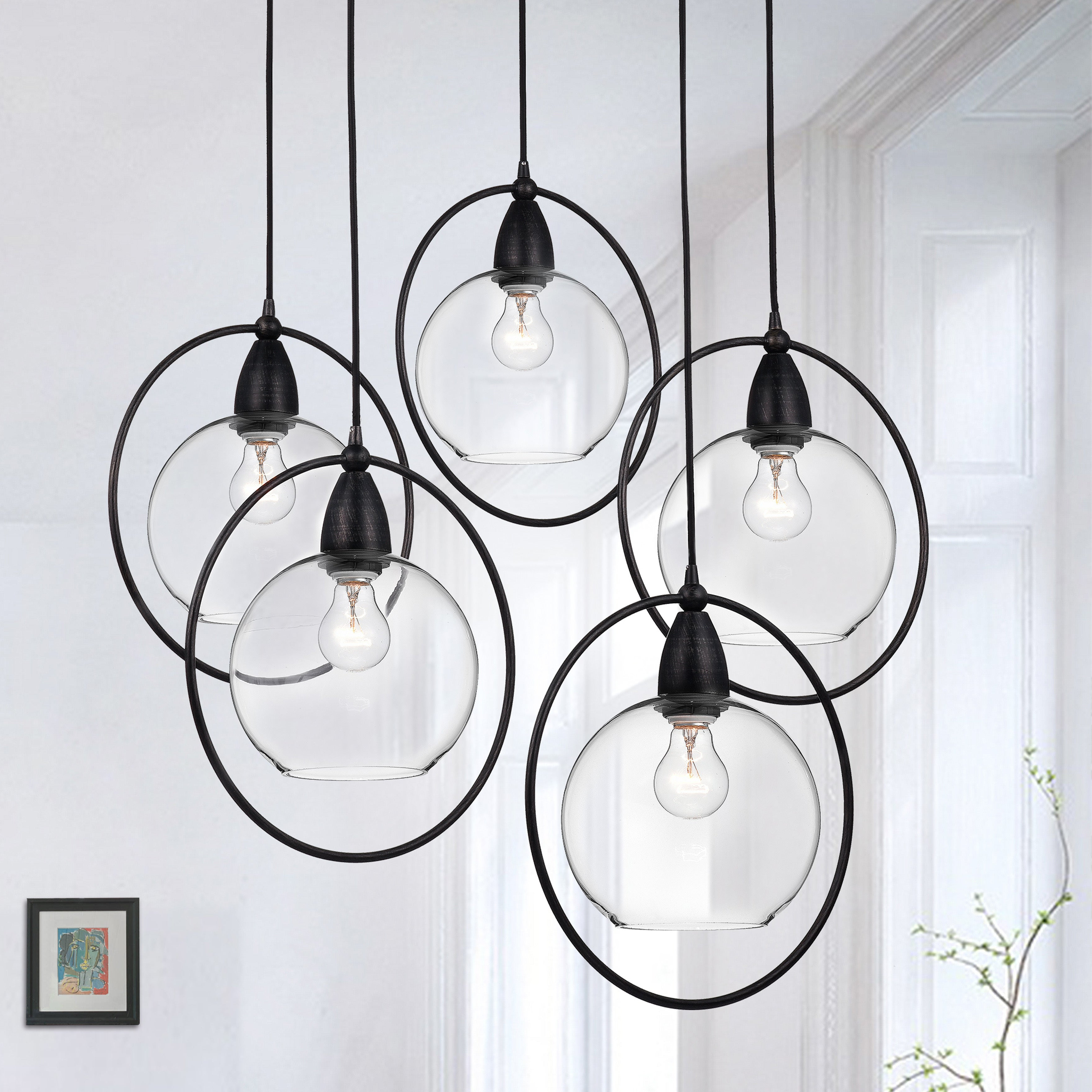 Adriana Black 1 Light Single Dome Pendants Within Well Known Oil Rubbed Chandeliers (View 9 of 25)