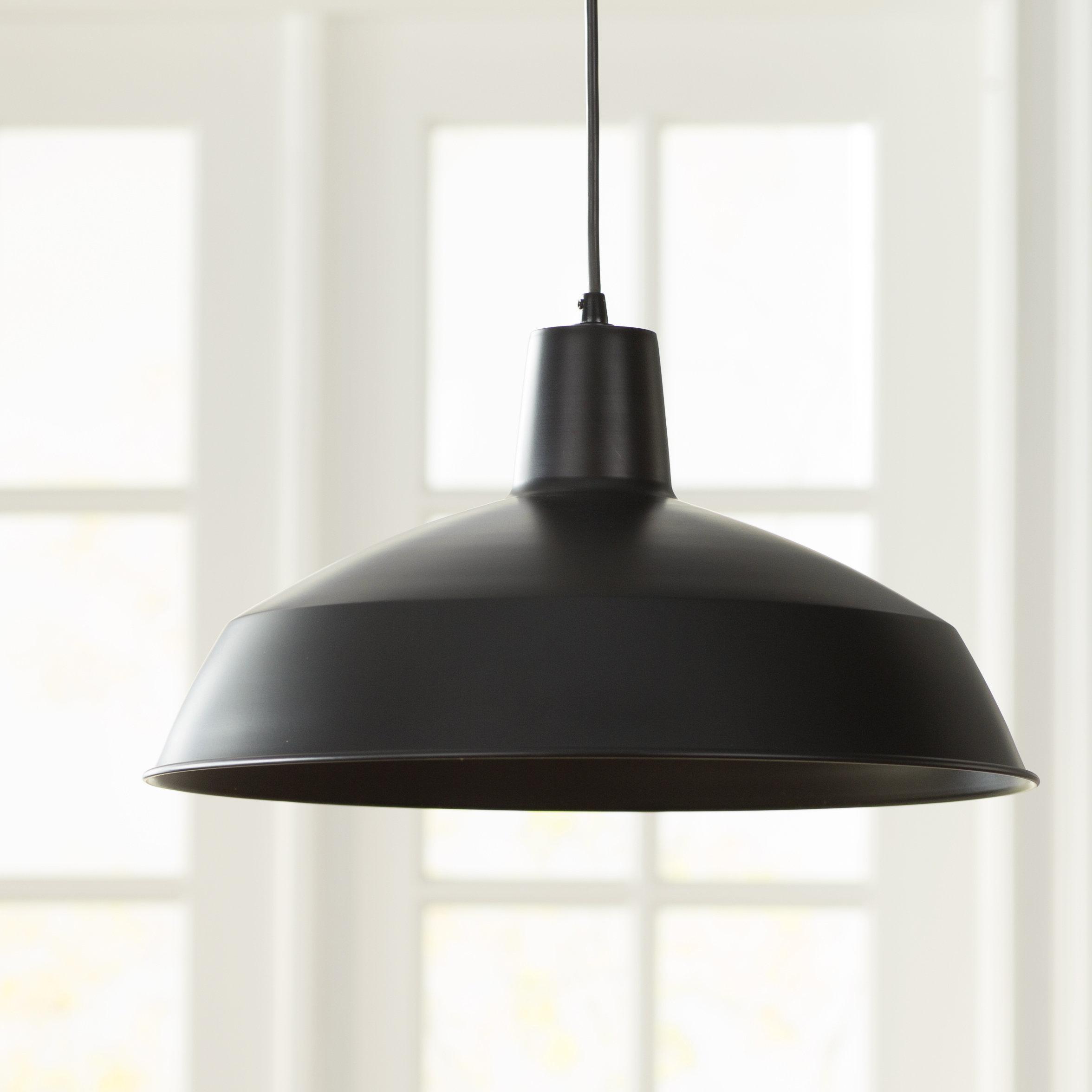 Featured Photo of Adriana Black 1 Light Single Dome Pendants