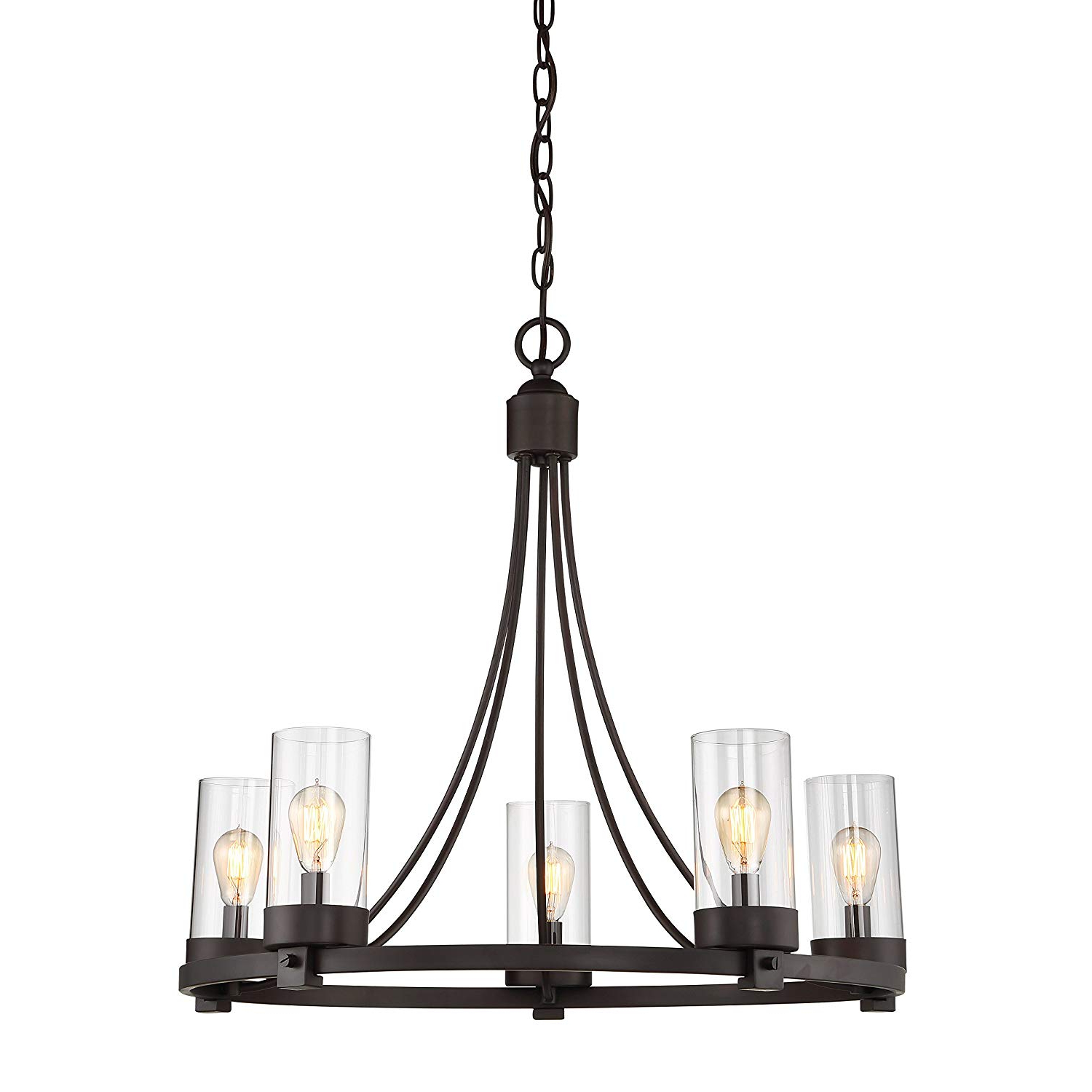 Agave Oil Rubbed Bronze 5 Light Candle Style Chandelier Intended For 2019 Giverny 9 Light Candle Style Chandeliers (View 3 of 25)