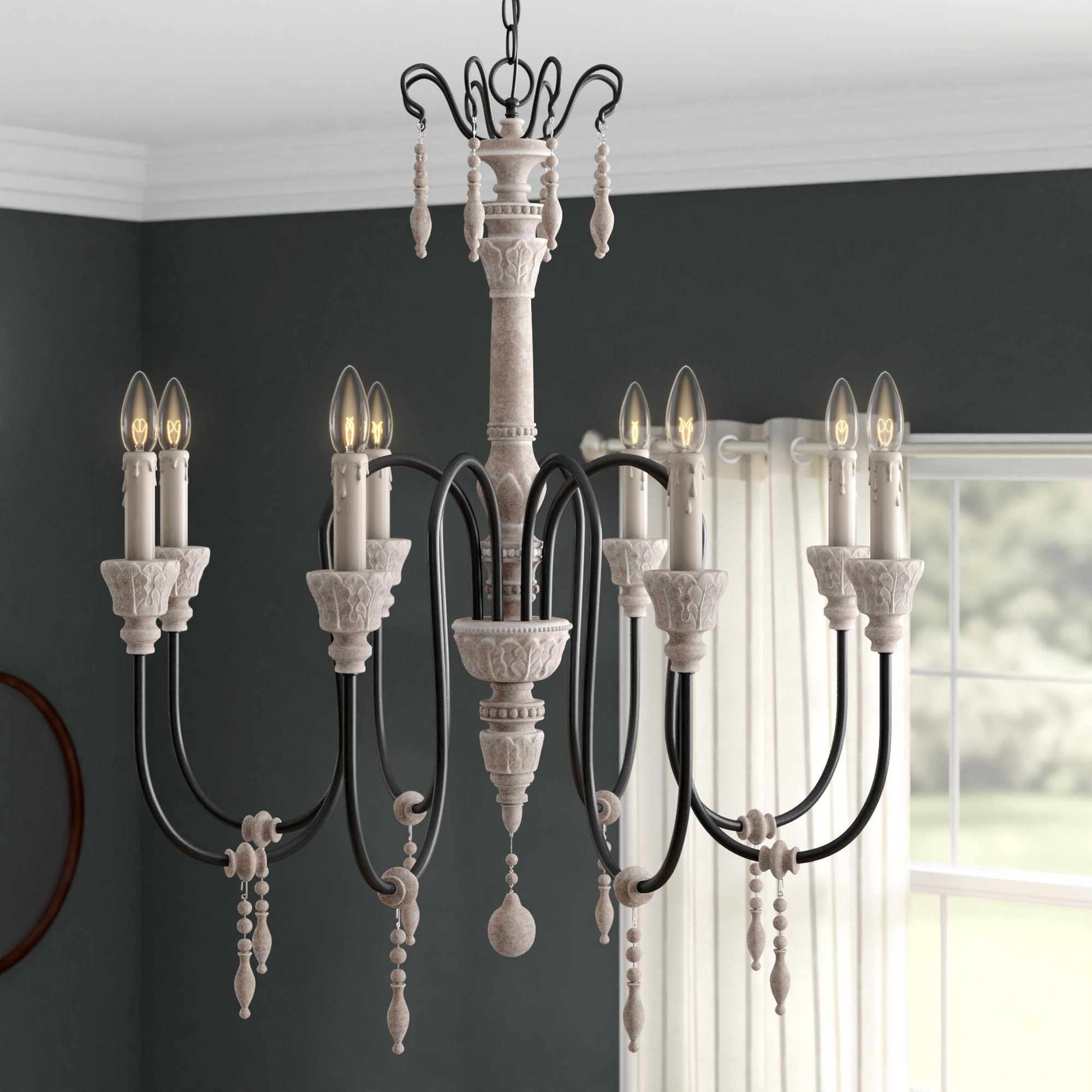 Ailsa 8 Light Candle Style Chandelier In Preferred Corneau 5 Light Chandeliers (View 9 of 25)