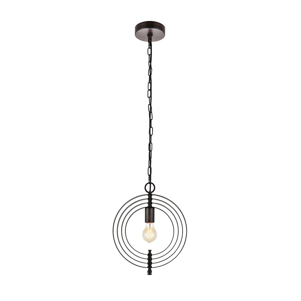 Akash Industrial Vintage 1 Light Geometric Pendants With Regard To Widely Used Rossi Industrial Vintage 1 Light Geometric Pendant (View 6 of 25)