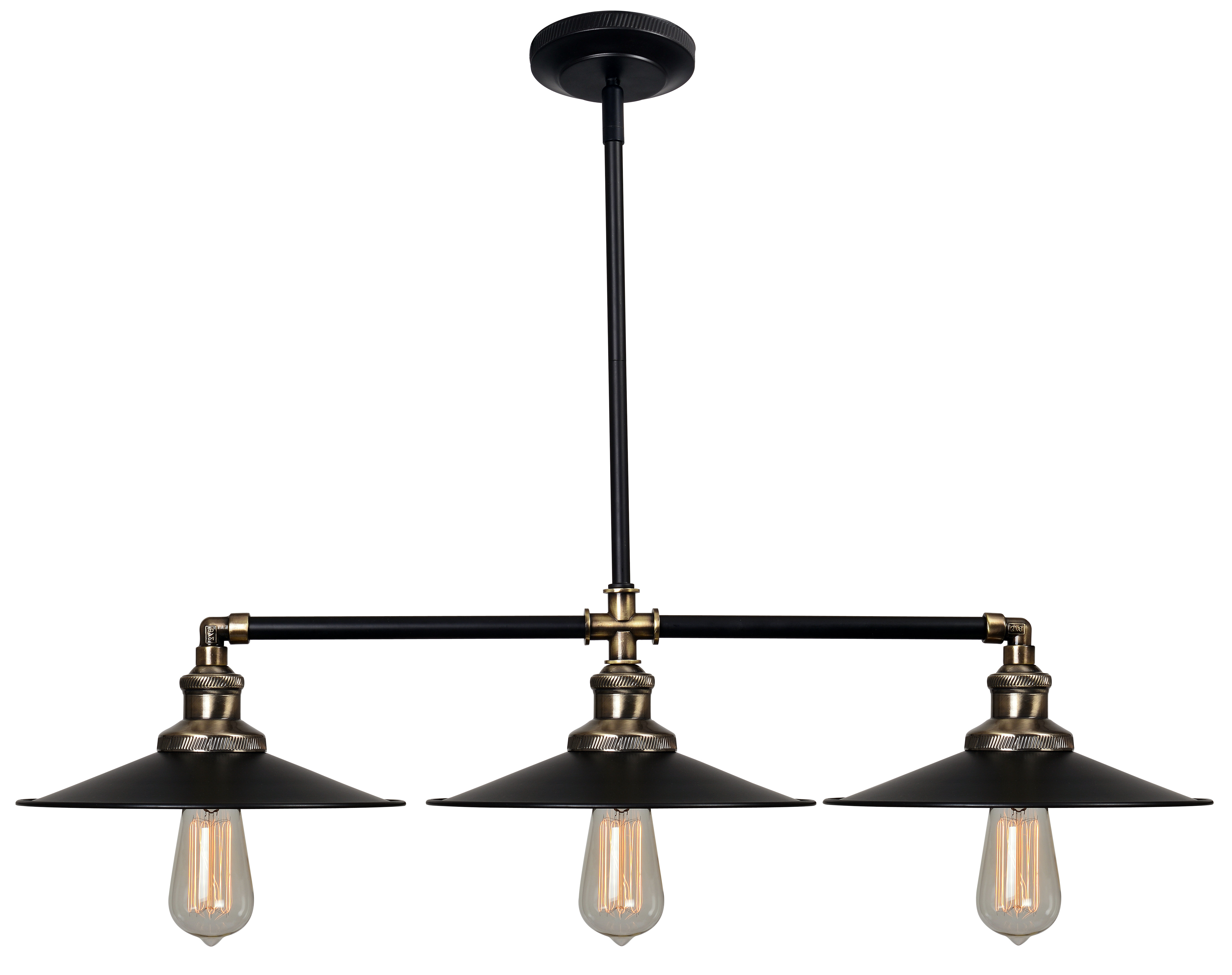 Alayna 4 Light Shaded Chandeliers Inside Most Popular Dobson 3 Light Kitchen Island Linear Pendant (View 4 of 25)