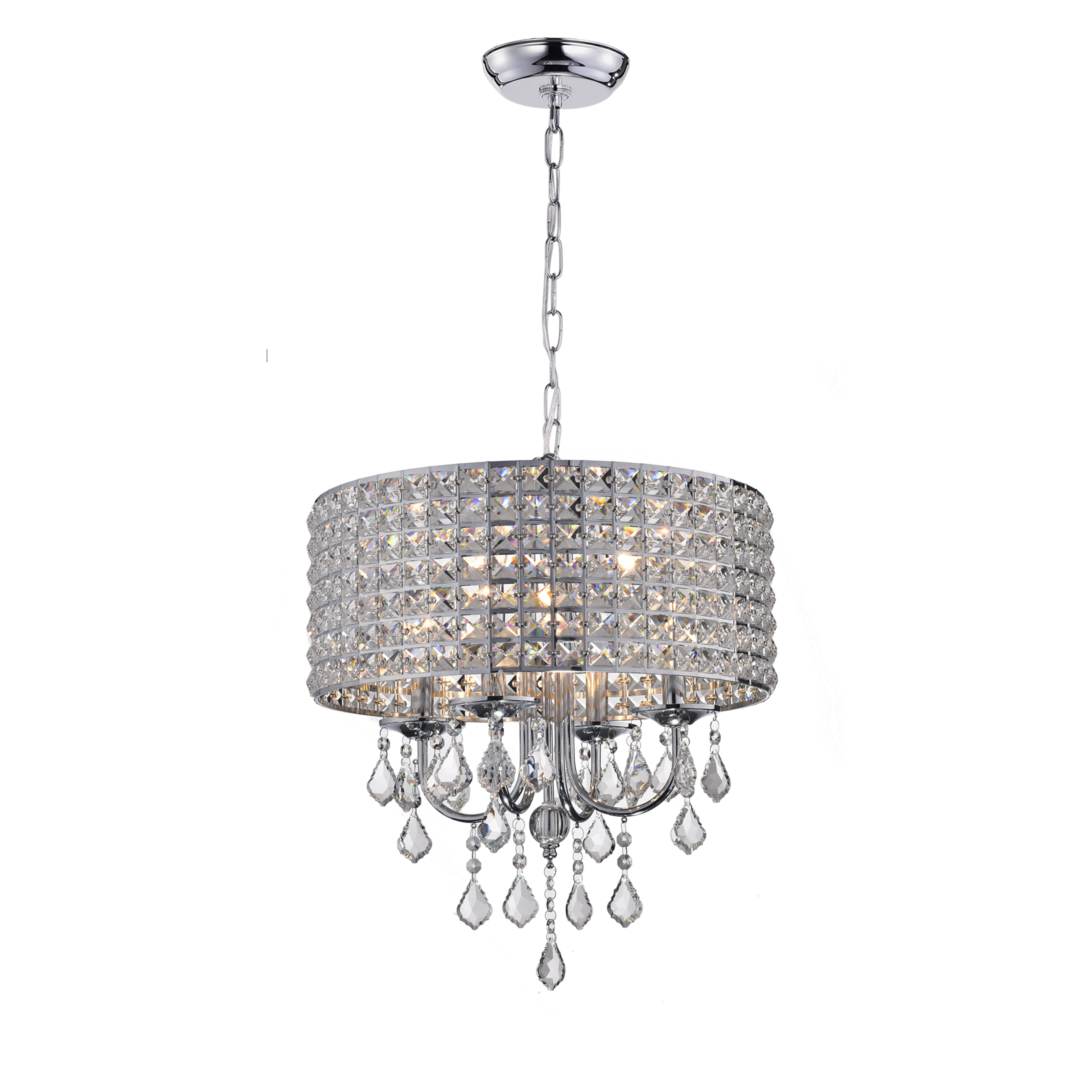 Albano 4 Light Crystal Chandelier With Regard To Famous Gisselle 4 Light Drum Chandeliers (View 16 of 25)