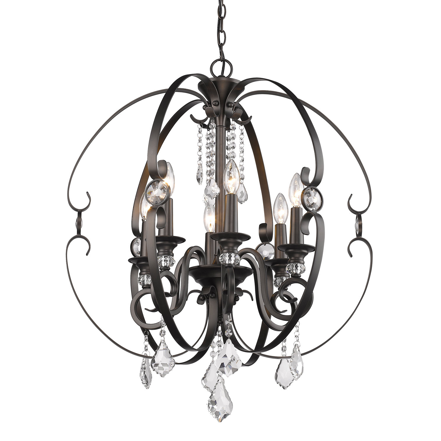 Alden 6 Light Globe Chandeliers Pertaining To Best And Newest Hardouin 6 Light Globe Chandelier (View 5 of 25)