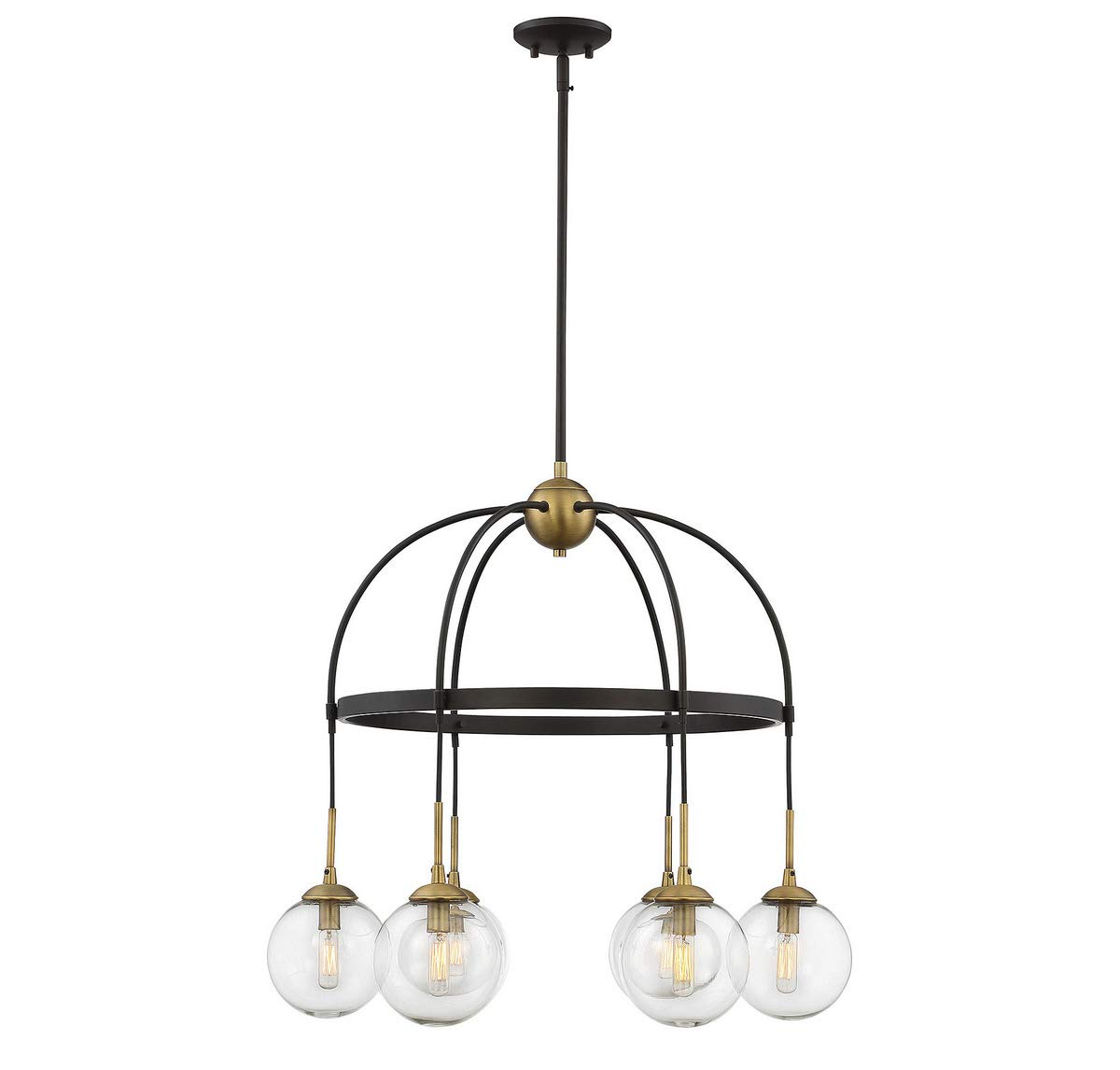 Alden 6 Light Globe Chandeliers With Regard To Most Recently Released Savoy House Fulton 6 Light Chandelier In English Bronze (View 7 of 25)