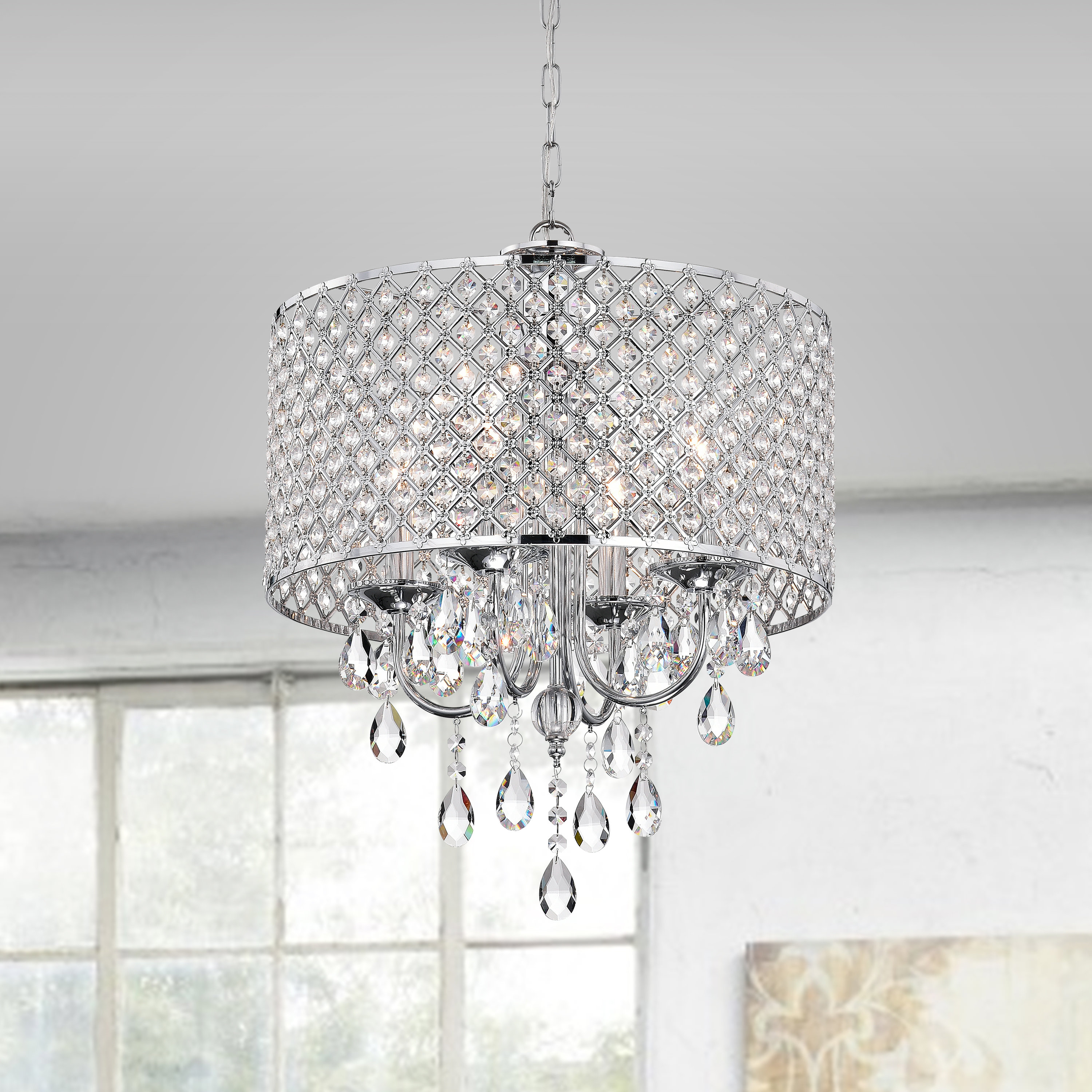 Aldgate 4-Light Crystal Chandeliers within 2019 Aldgate 4-Light Crystal Chandelier