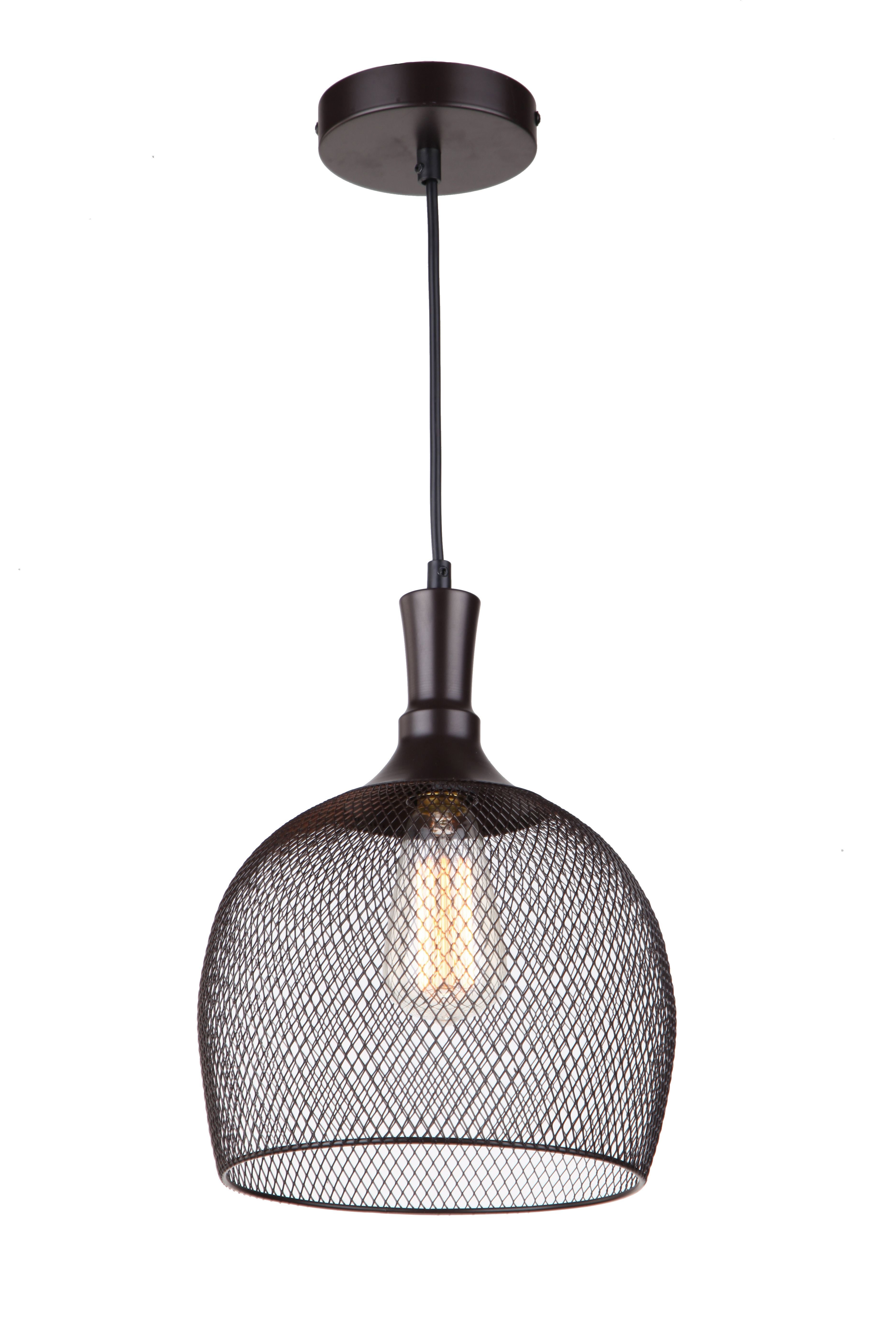 Alec 1 Light Dome Pendant Within Latest Rossi Industrial Vintage 1 Light Geometric Pendants (View 2 of 25)