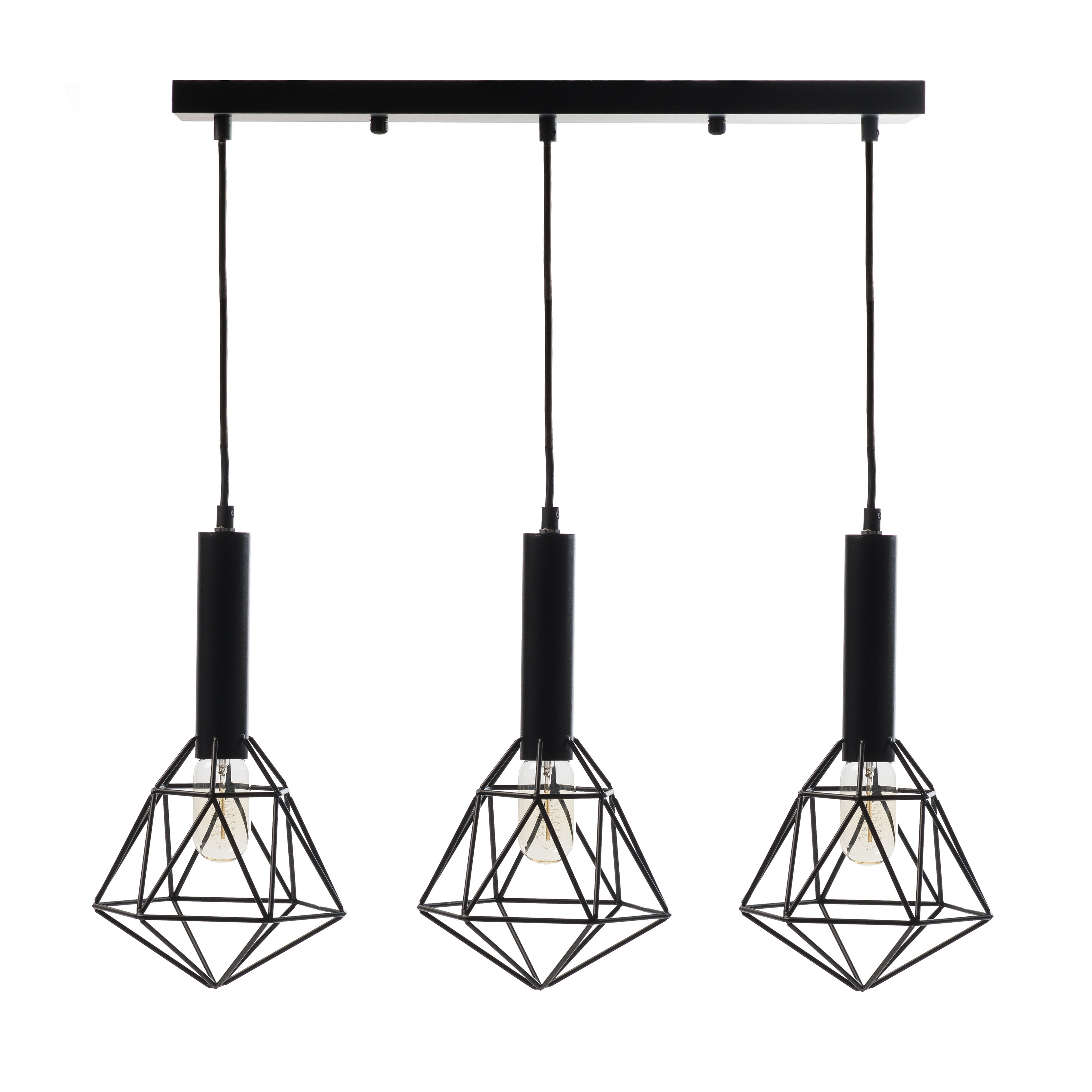 Allmodern With Berenice 3 Light Cluster Teardrop Pendants (View 3 of 25)