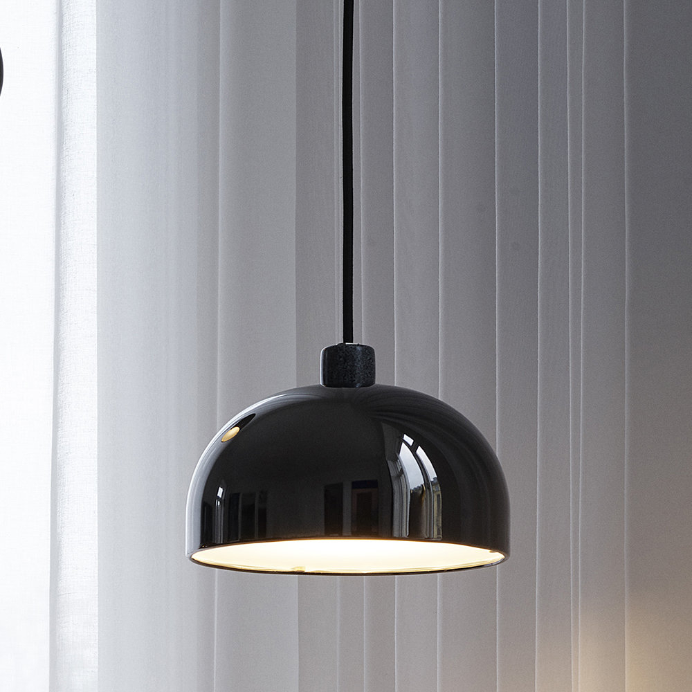 Amara 2 Light Dome Pendants With Regard To Most Up To Date Grant Pendant Light – Black – Small (View 21 of 25)