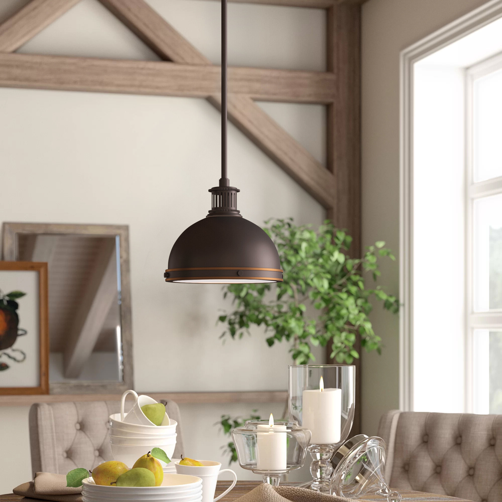 Amara 3 Light Dome Pendants Throughout Fashionable Orchard Hill 1 Light Led Dome Pendant (View 7 of 25)