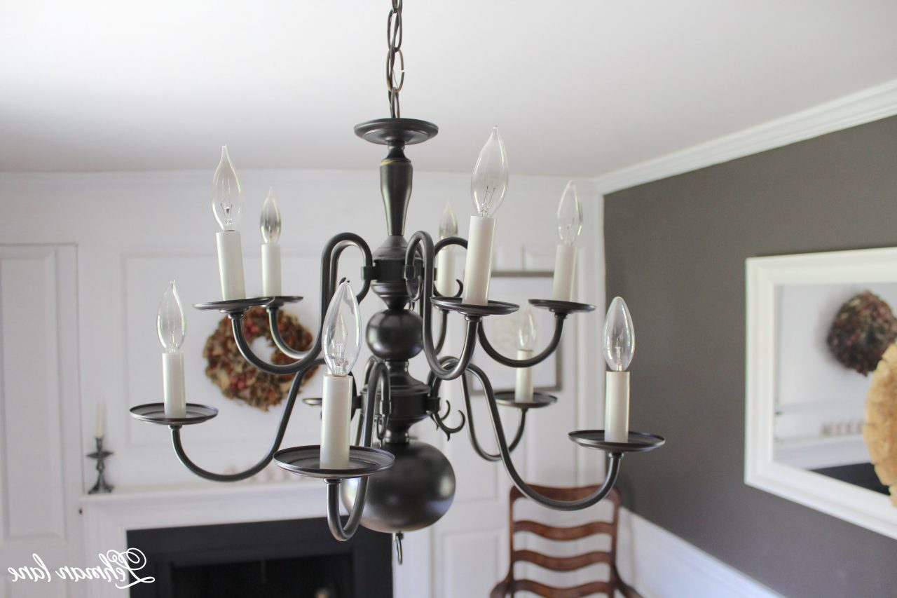 An Easy Chandelier Makeover With Spray Paint – Lehman Lane Inside Latest Dirksen 3 Light Single Cylinder Chandeliers (View 24 of 25)