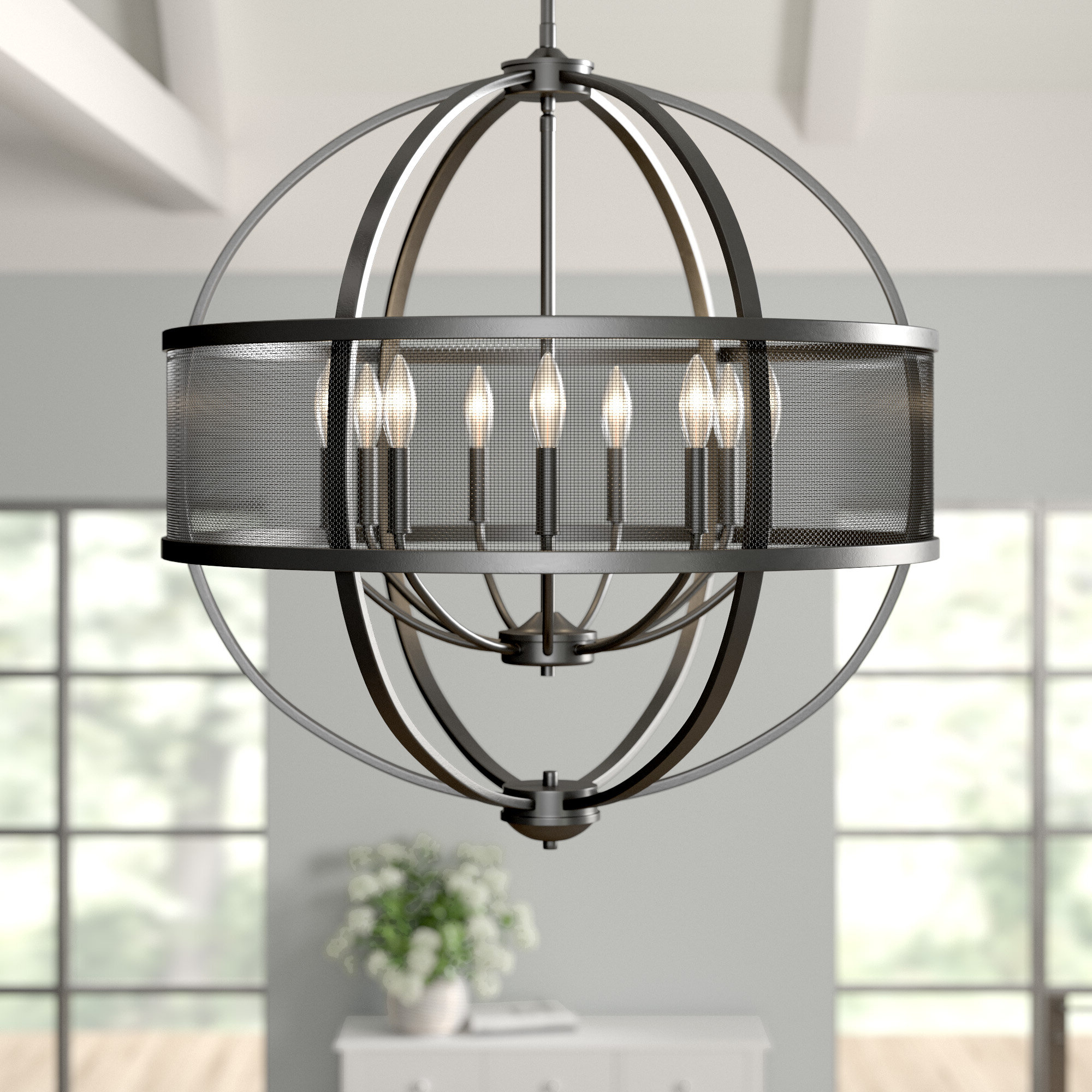 Annuziata 3 Light Unique/statement Chandeliers Throughout Well Known Earlene 9 Light Globe Chandelier (View 21 of 25)