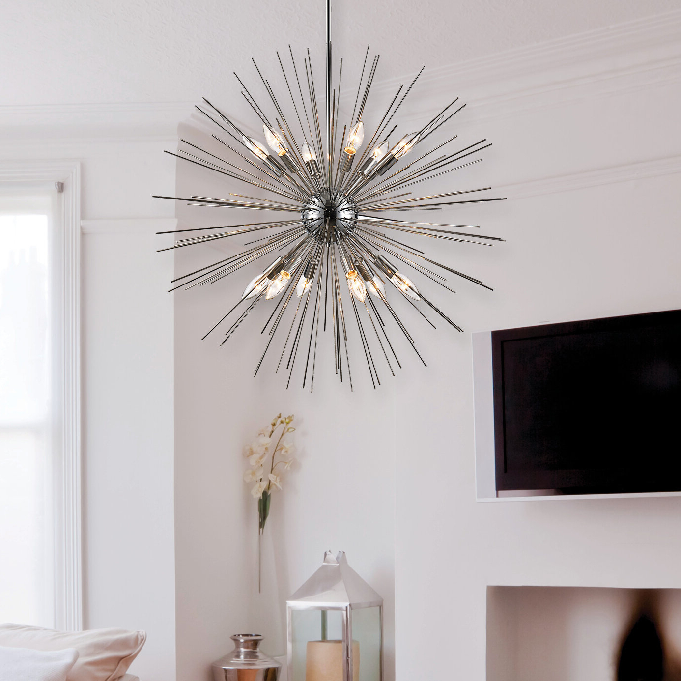 Antonie 12 Light Sputnik Chandelier Regarding Latest Corona 12 Light Sputnik Chandeliers (View 6 of 25)