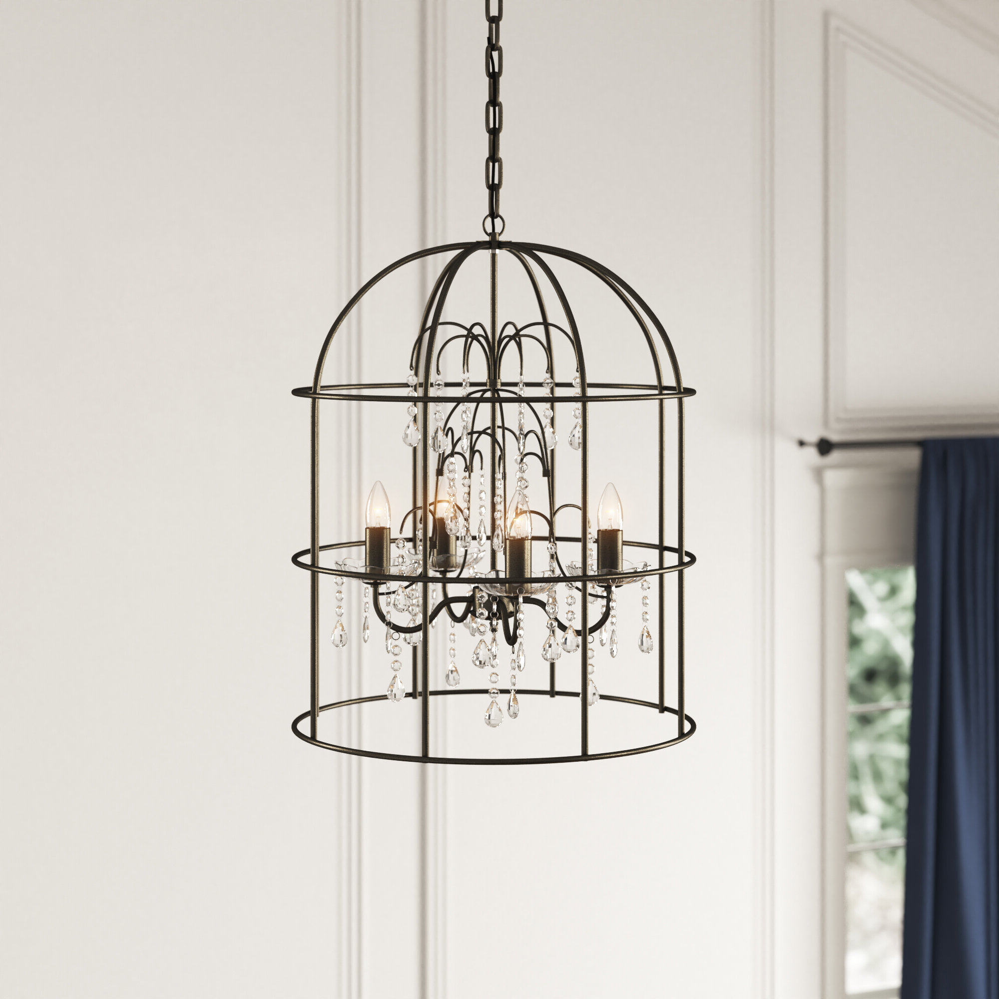 Argens 4 Light Lantern Geometric Pendant Throughout Widely Used Oriana 4 Light Single Geometric Chandeliers (View 4 of 25)