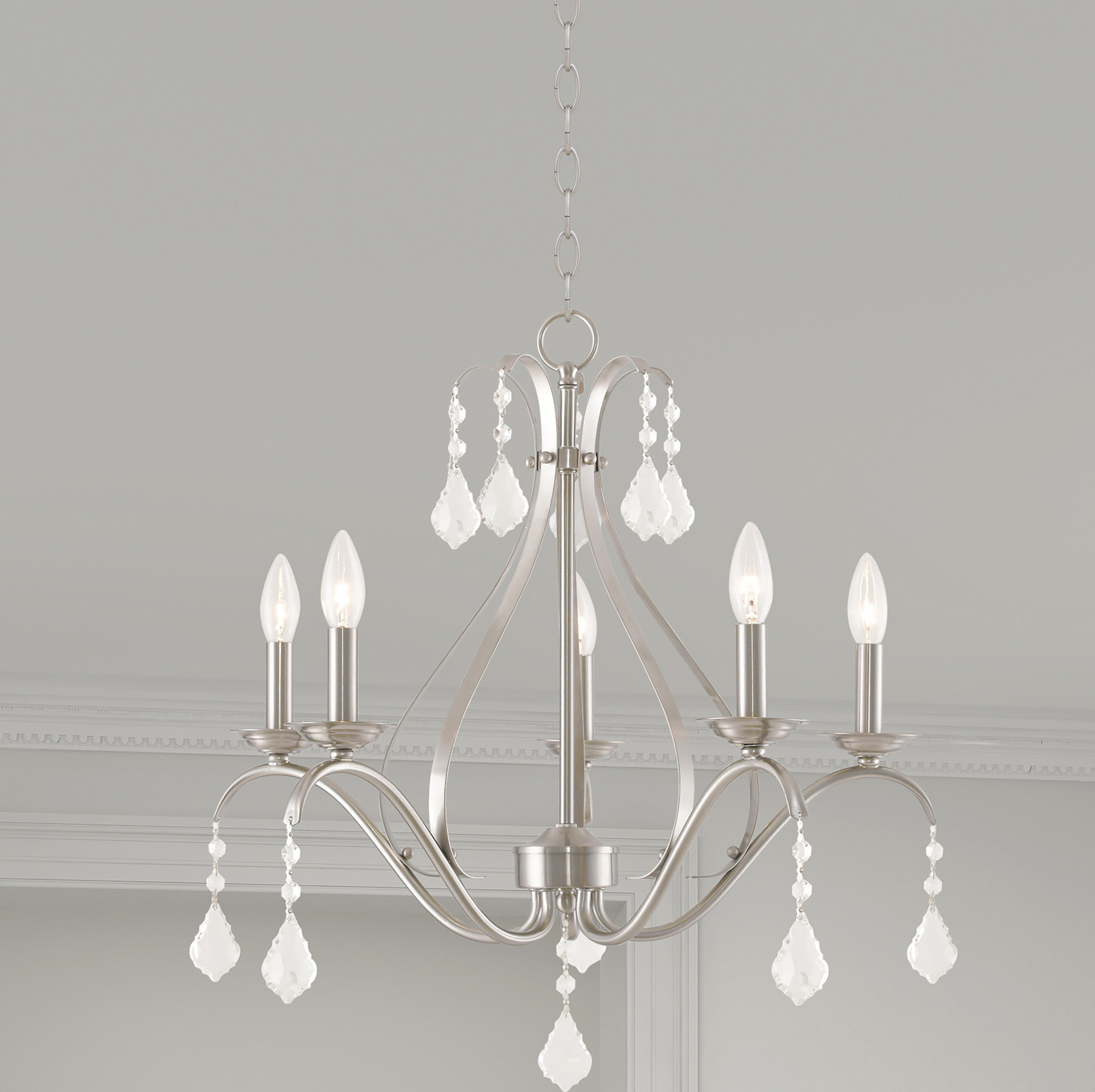 Aria 5 Light Candle Style Chandelier Regarding Most Up To Date Hesse 5 Light Candle Style Chandeliers (View 3 of 25)