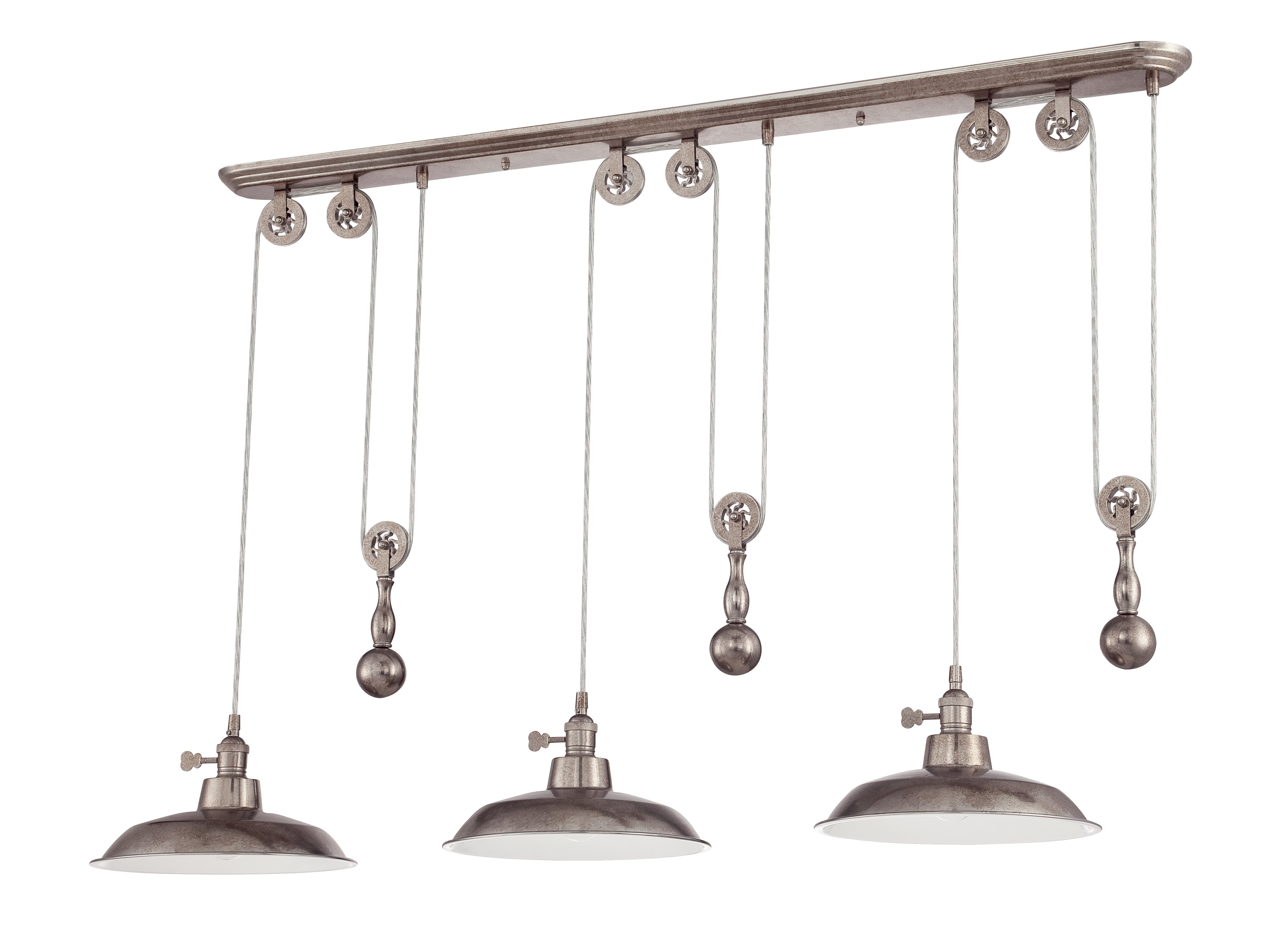 Ariel 3 Light Kitchen Island Dome Pendant For Popular Ariel 2 Light Kitchen Island Dome Pendants (View 7 of 25)