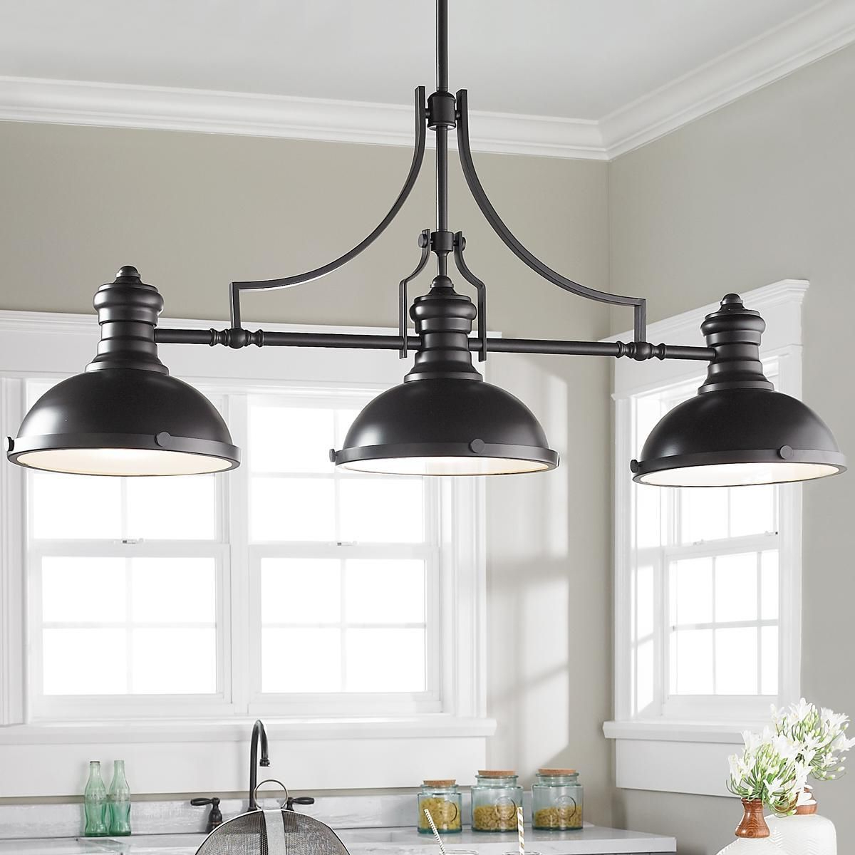 Ariel 3 Light Kitchen Island Dome Pendants Inside Preferred Craftsman Period Island Chandelier – 3 Light (View 11 of 25)