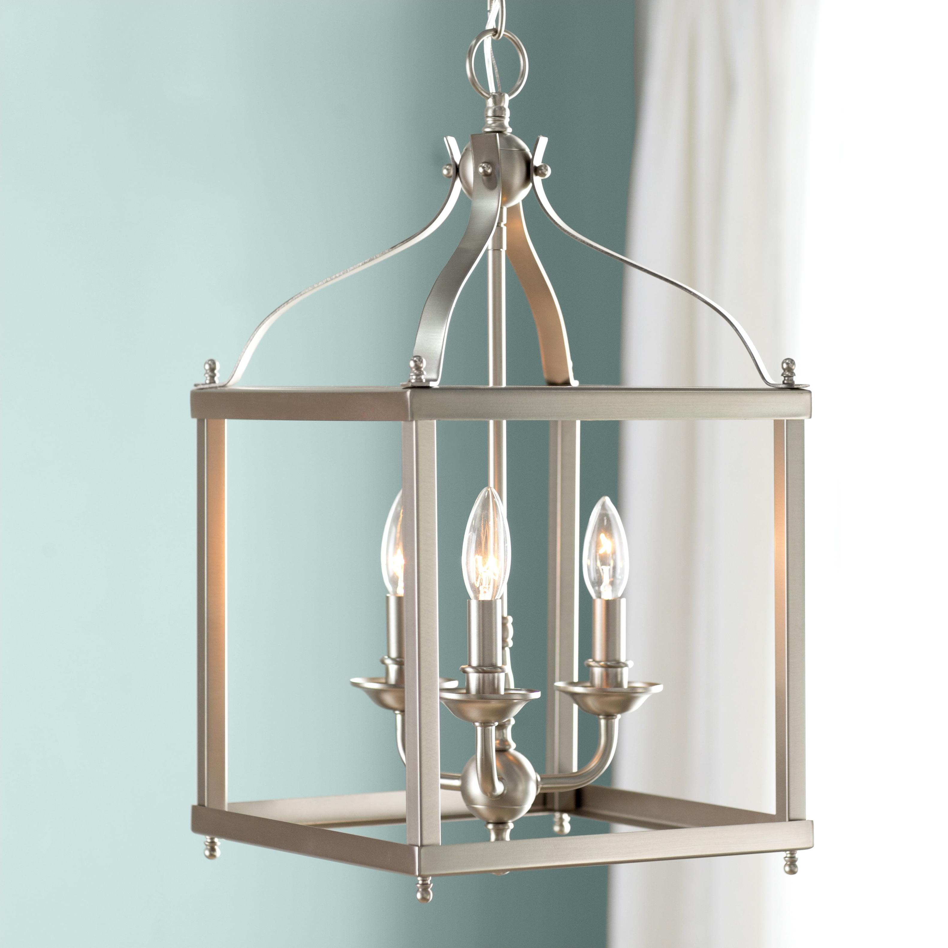 Armande 3 Light Lantern Geometric Pendants Intended For Preferred Brumley 3 Light Foyer Pendant (View 16 of 25)