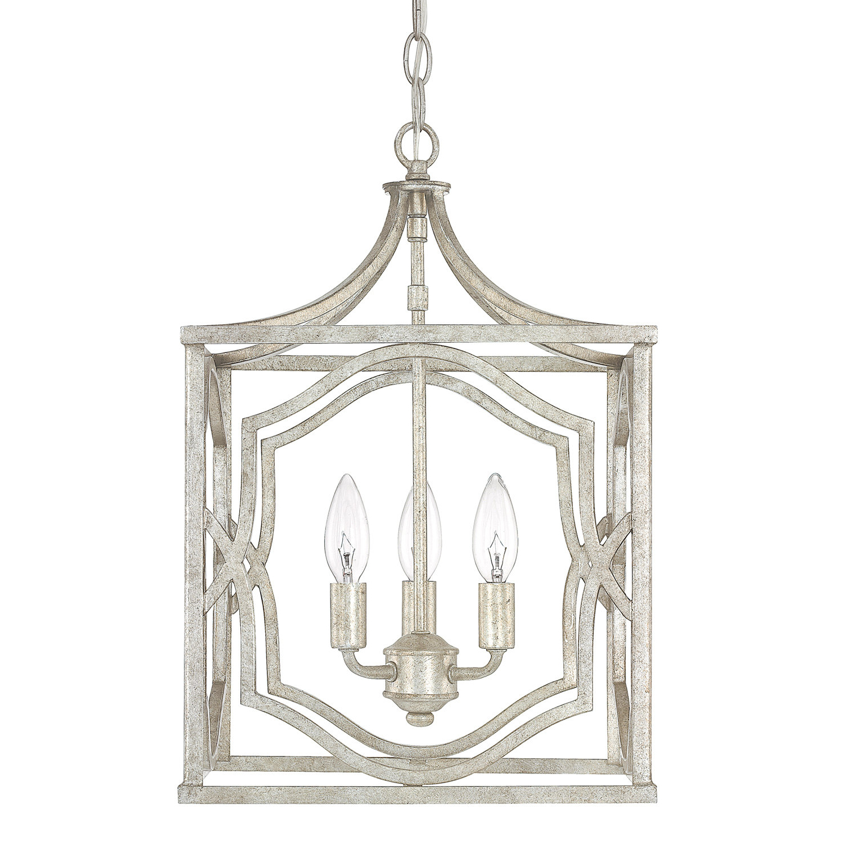 Armande 3 Light Lantern Geometric Pendants With Regard To 2019 Destrey 3 Light Lantern Square/rectangle Pendant & Reviews (View 6 of 25)