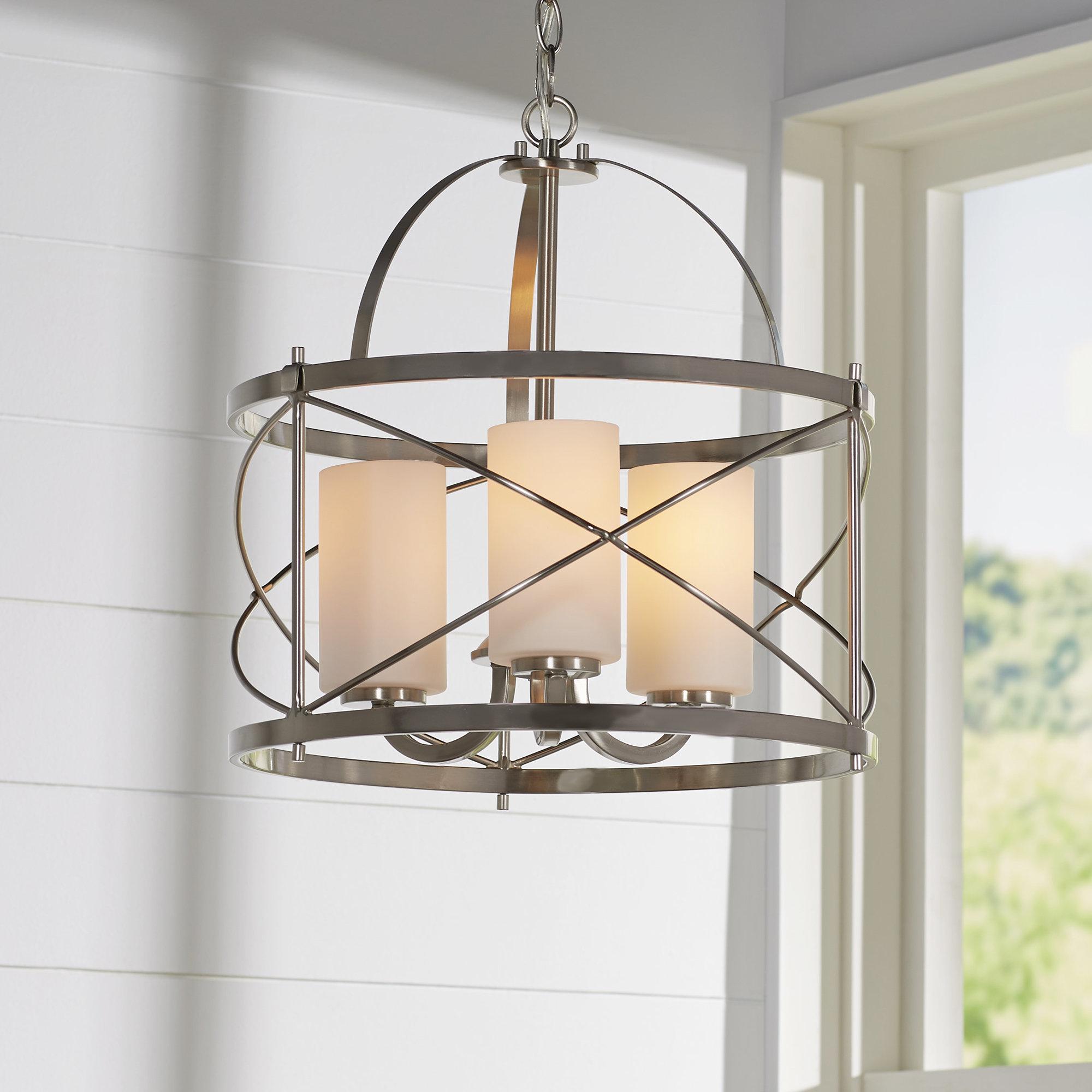 Armande 4 Light Lantern Drum Pendants Regarding 2019 Darby Home Co Farrier 3 Light Lantern Drum Pendant (View 4 of 25)