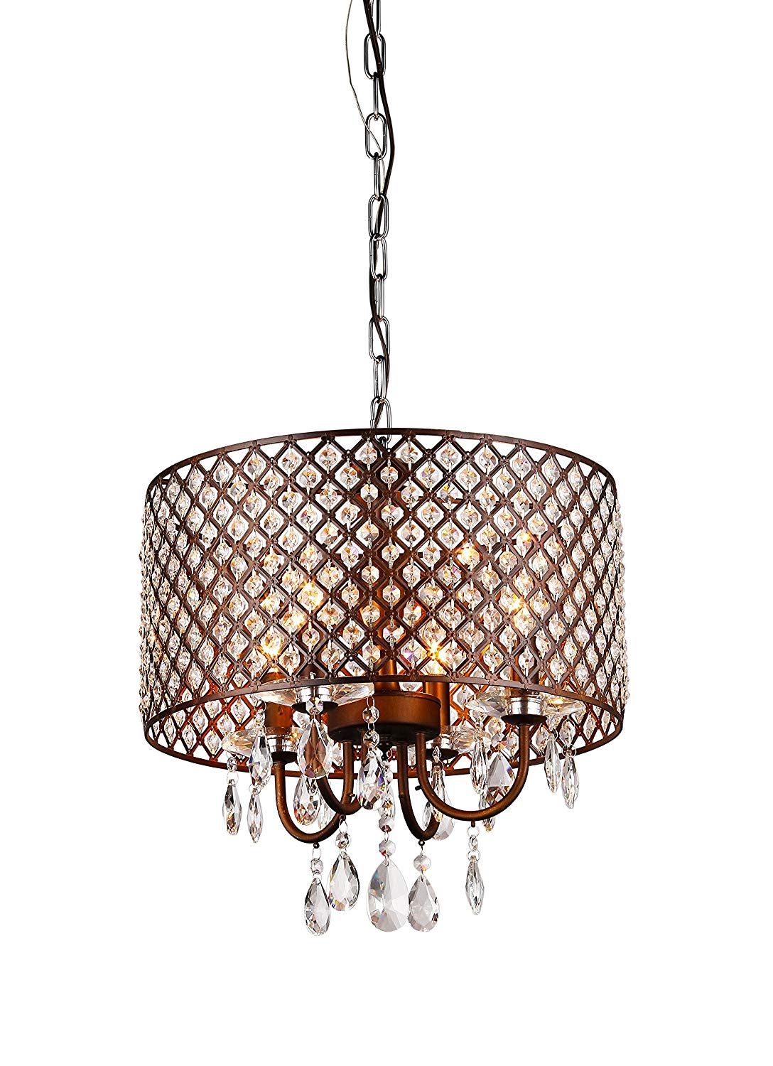 Armande 4 Light Lantern Drum Pendants Throughout Best And Newest Whse Of Tiffany Rl8064 Alexia Antique Bronze Chandelier (View 6 of 25)