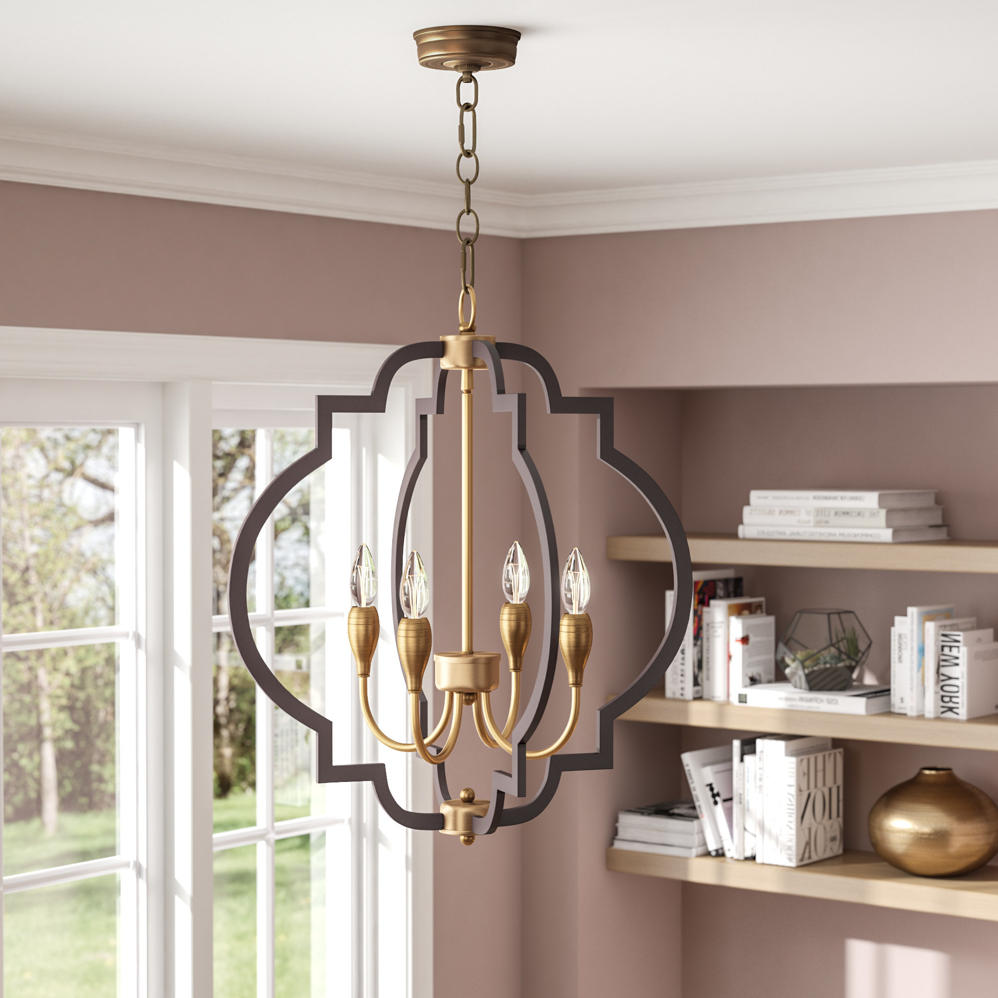 Astin 4 Light Geometric Chandelier For Most Recently Released Kaycee 4 Light Geometric Chandeliers (View 3 of 25)