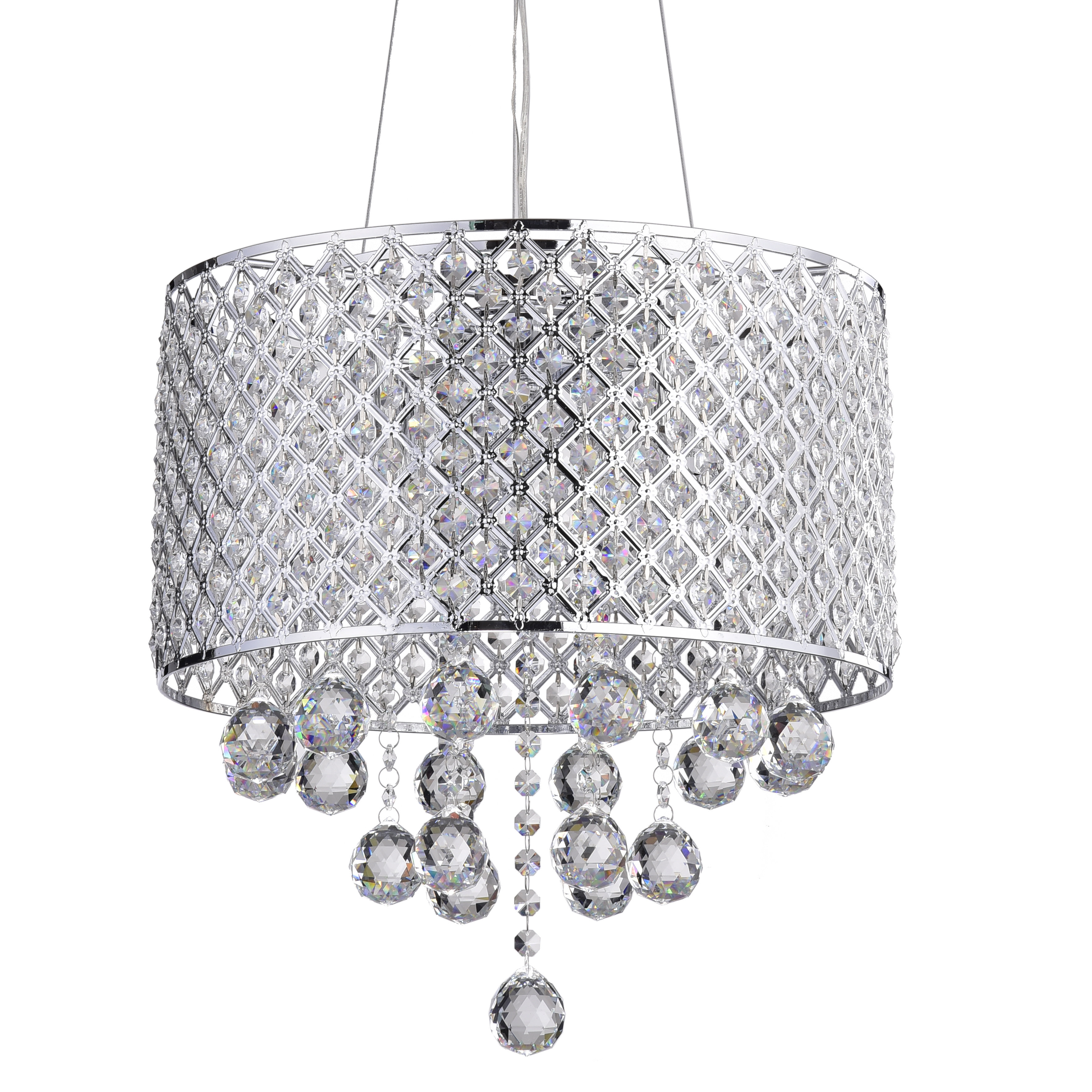 Aurore 4 Light Crystal Chandeliers Inside Popular Ginnia 4 Light Crystal Chandelier (View 5 of 25)