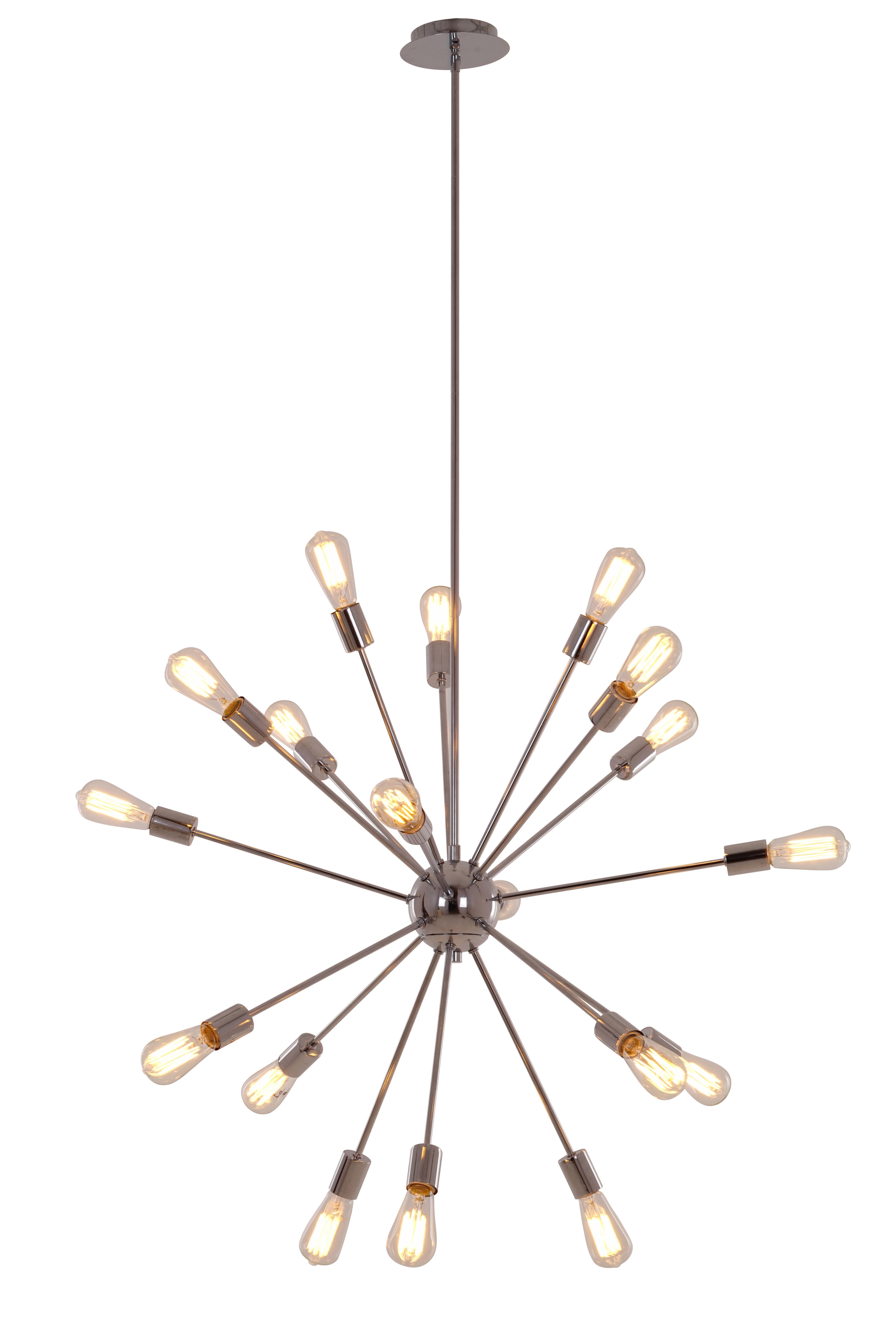Bach 18-Light Chandelier with regard to Famous Defreitas 18-Light Sputnik Chandeliers