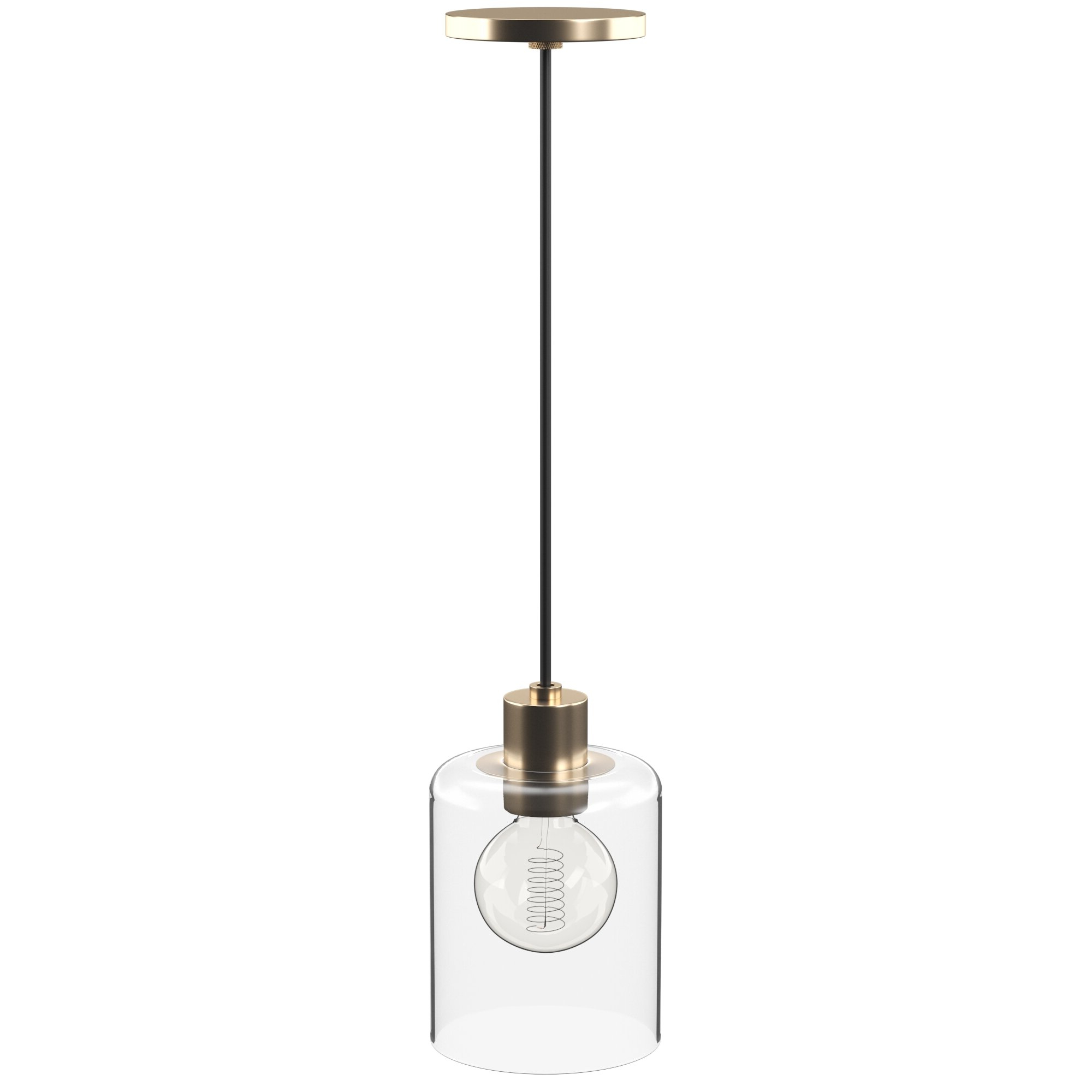 Bainbridge 1-Light Single Cylinder Pendants with Well-liked Damp Location Pendant Lighting