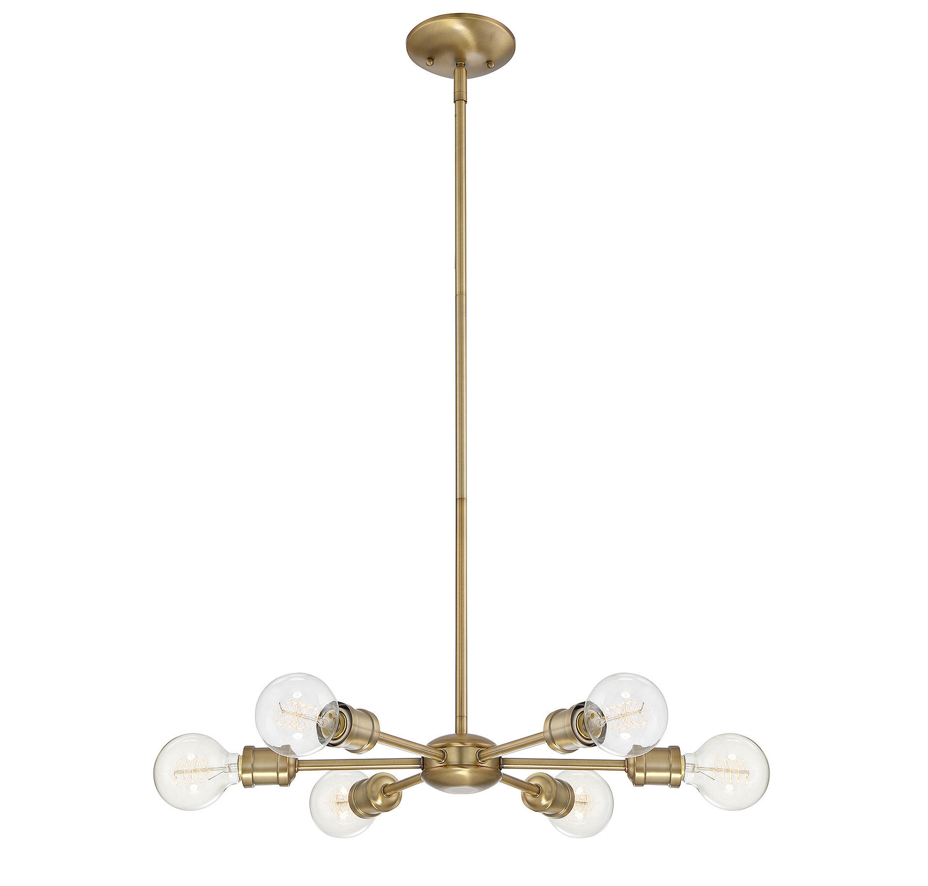 Bautista 5-Light Sputnik Chandeliers in Best and Newest Bautista 6-Light Sputnik Chandelier