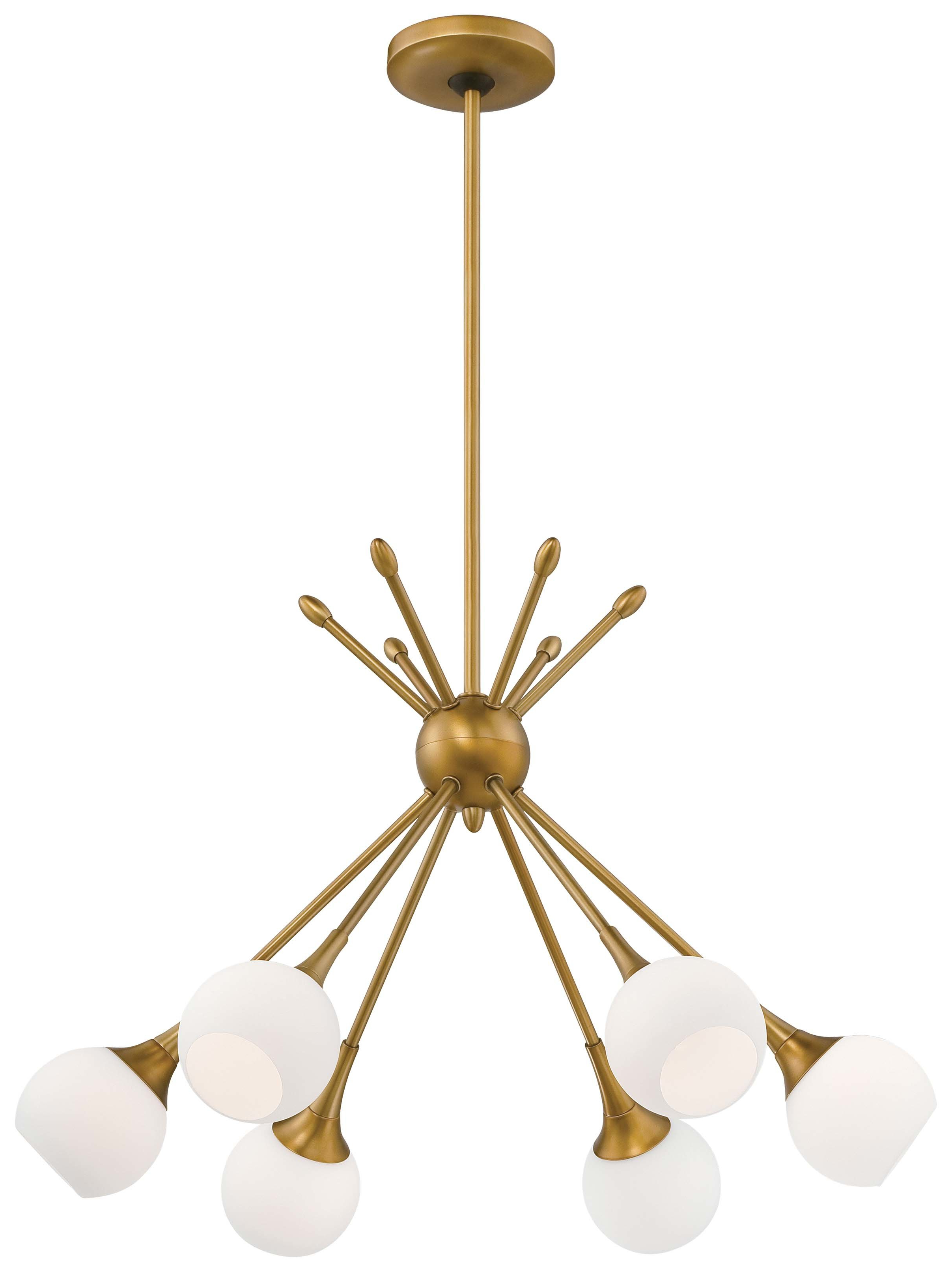 Bautista 6-Light Sputnik Chandeliers for Fashionable Silvia 6-Light Sputnik Chandelier