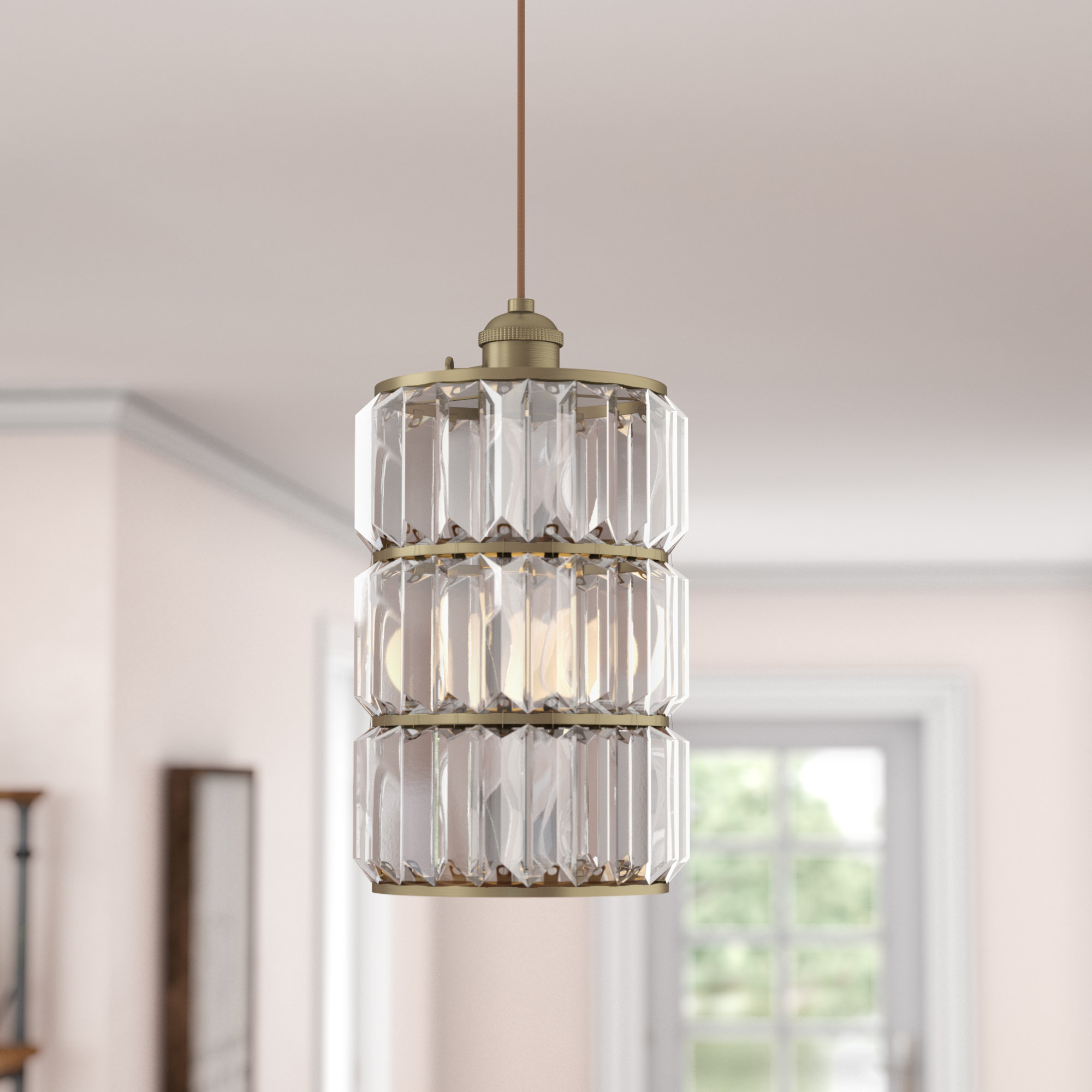Baxley 1 Light Single Cylinder Pendant With Regard To Trendy Nadeau 1 Light Single Cone Pendants (View 1 of 25)