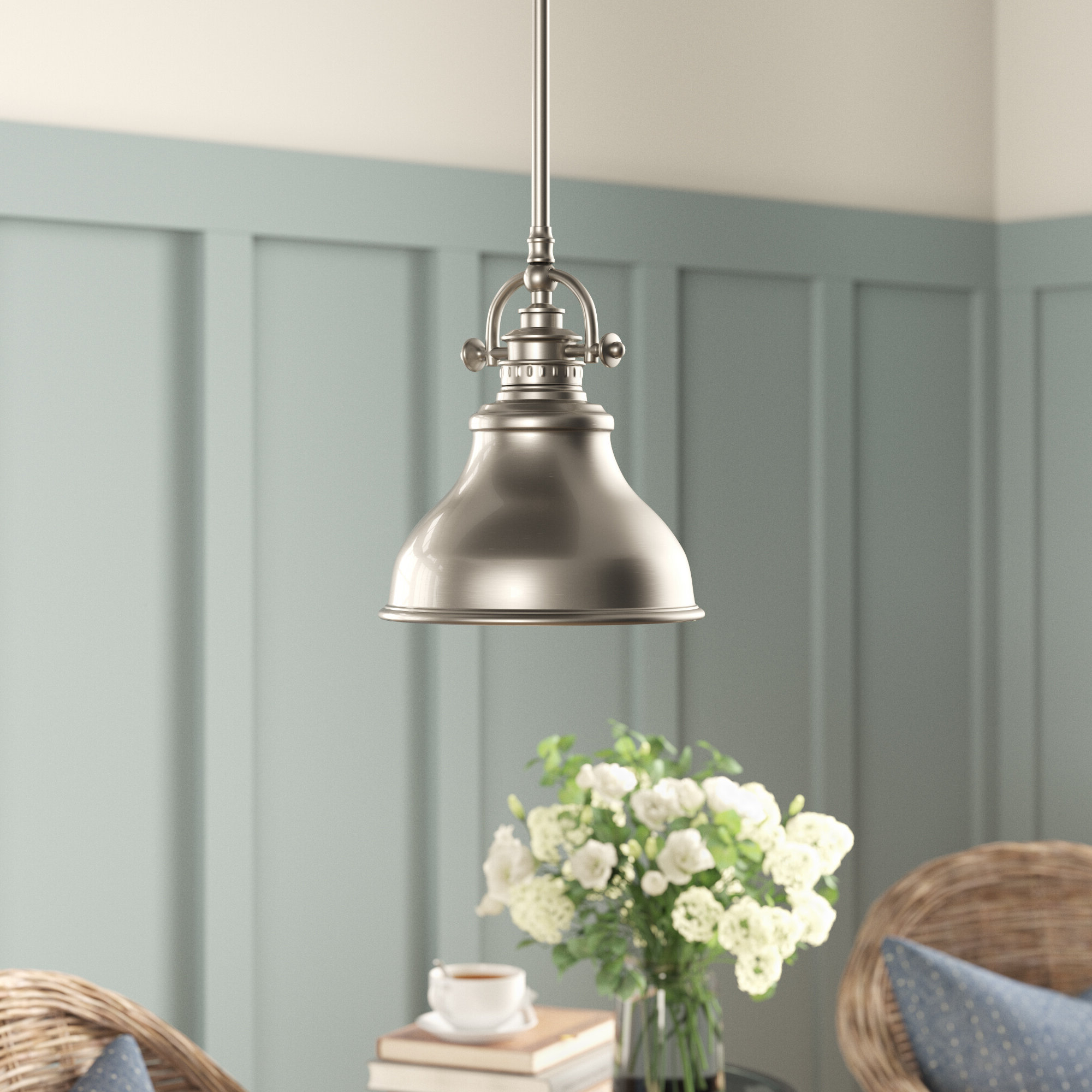 Beachcrest Home Mueller 1 Light Single Dome Pendant For Widely Used Mueller 1 Light Single Dome Pendants (View 3 of 25)