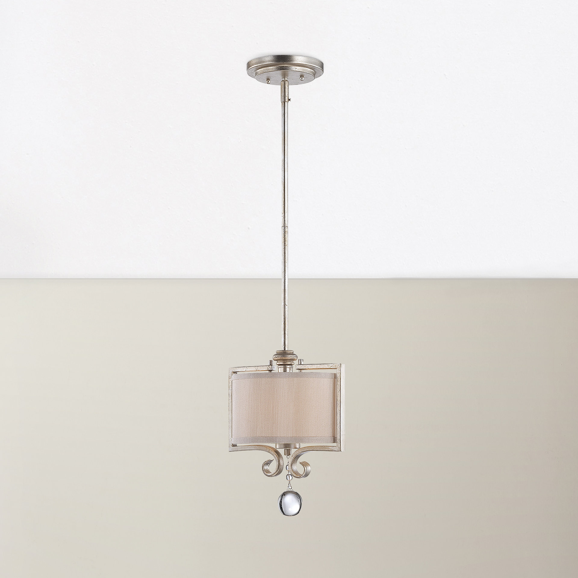 Beasley 1-Light Single Drum Pendant throughout Favorite Bellamira 1-Light Drum Pendants