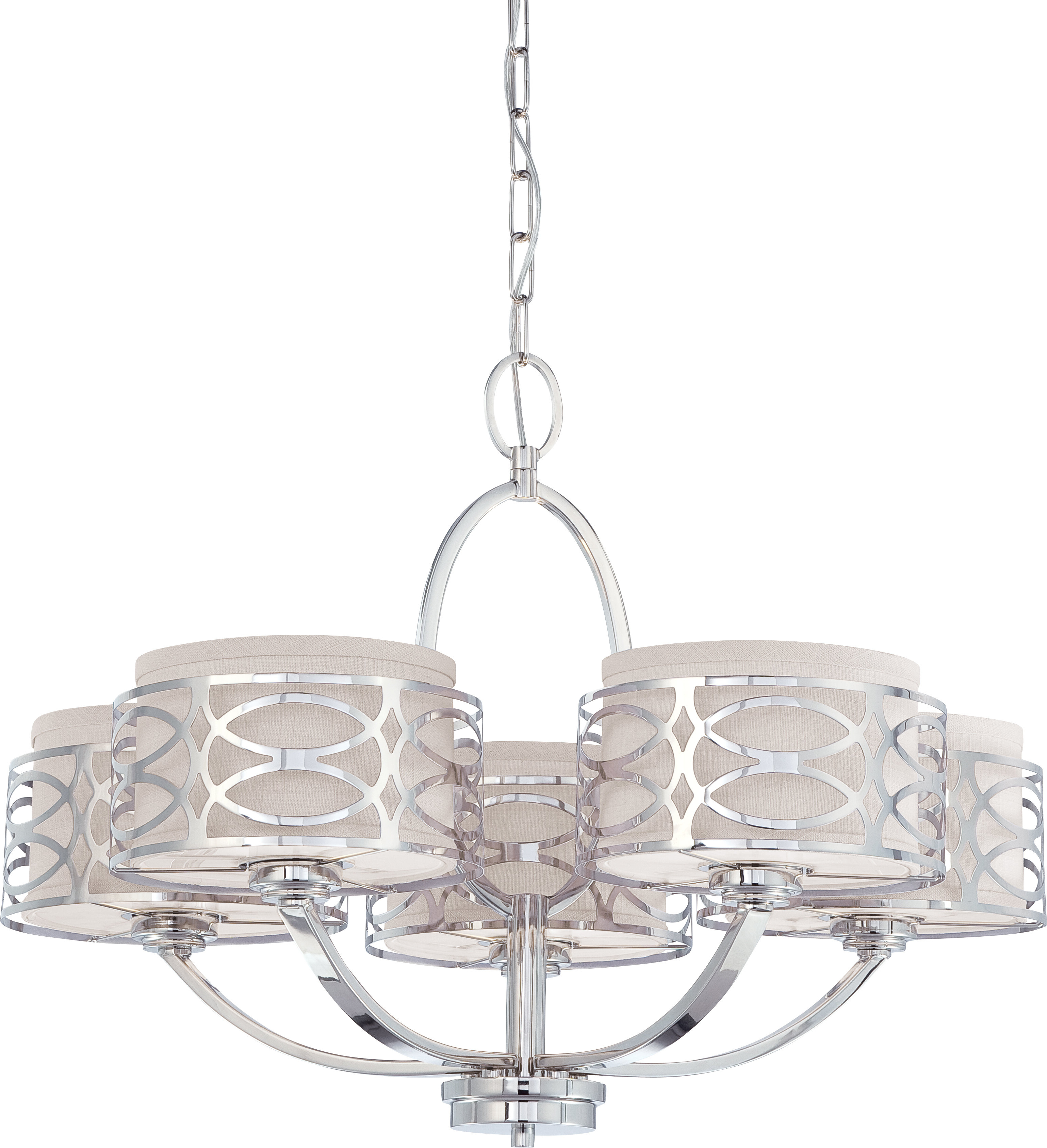 Bela 5-Light Drum Chandelier intended for Well-known Hermione 5-Light Drum Chandeliers