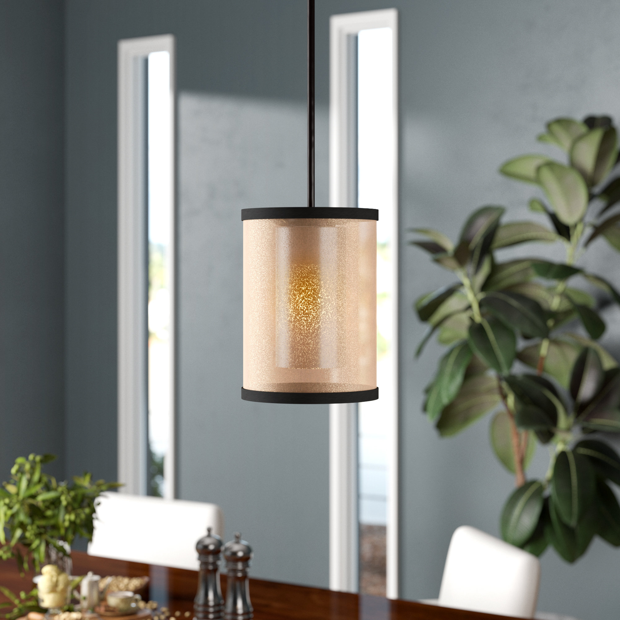 Bellamira 1-Light Drum Pendants within Most Current Dailey 1-Light Single Cylinder Pendant